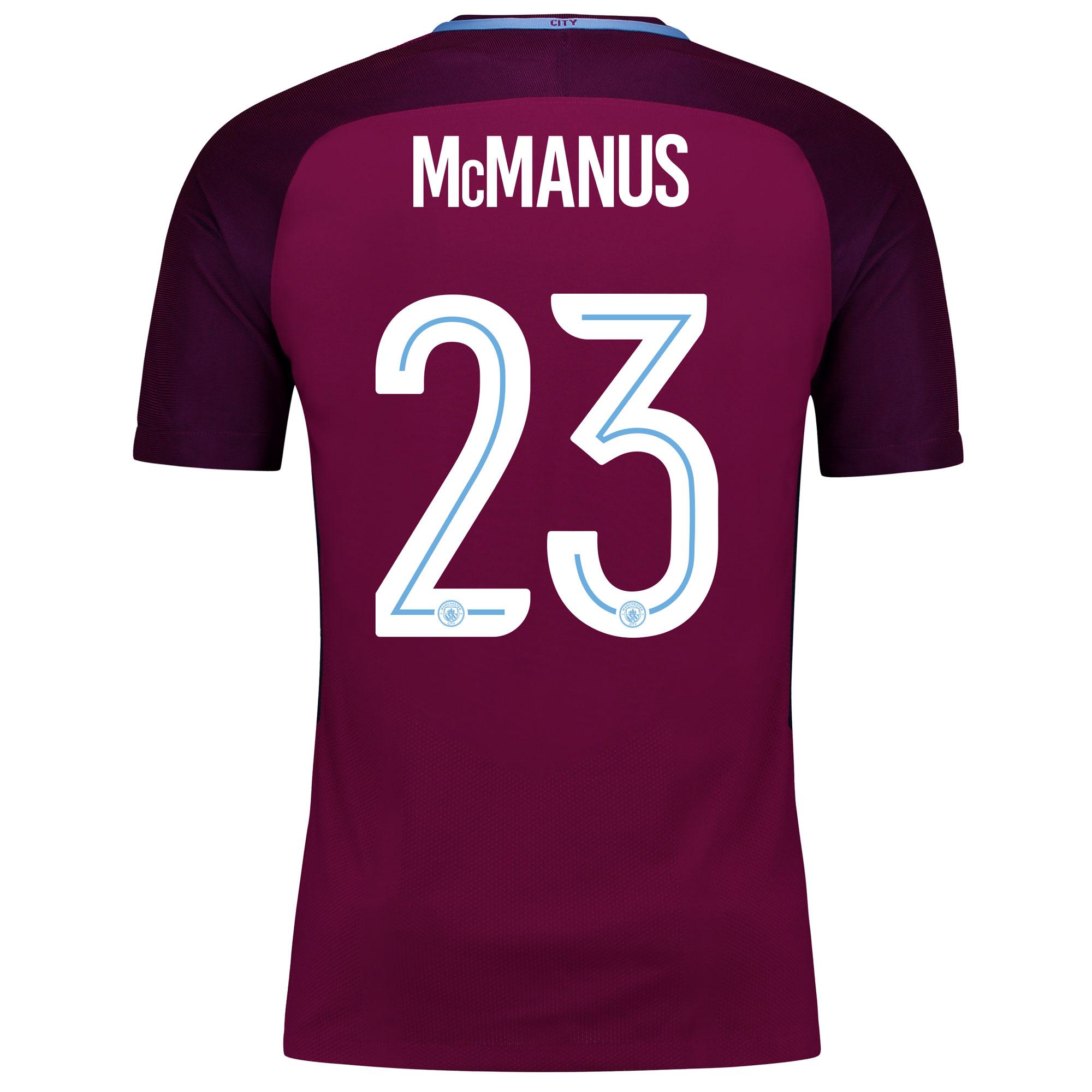 Manchester City Away Vapor Match Cup Shirt 2017-18 with McManus 23 pri