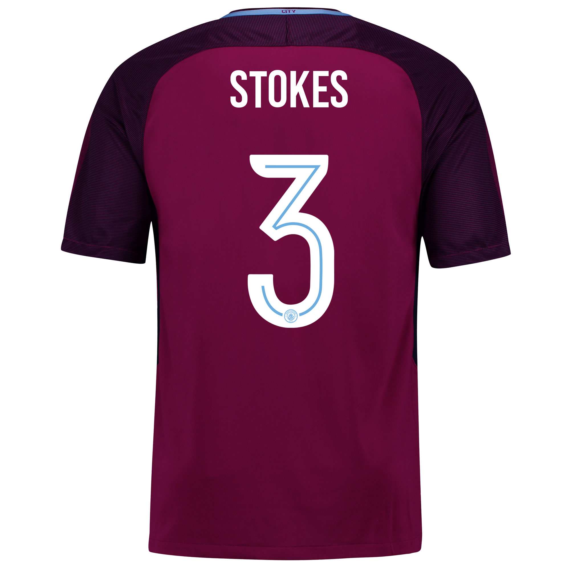 Manchester City Away Stadium Cup Shirt 2017-18 with Stokes 3 printing