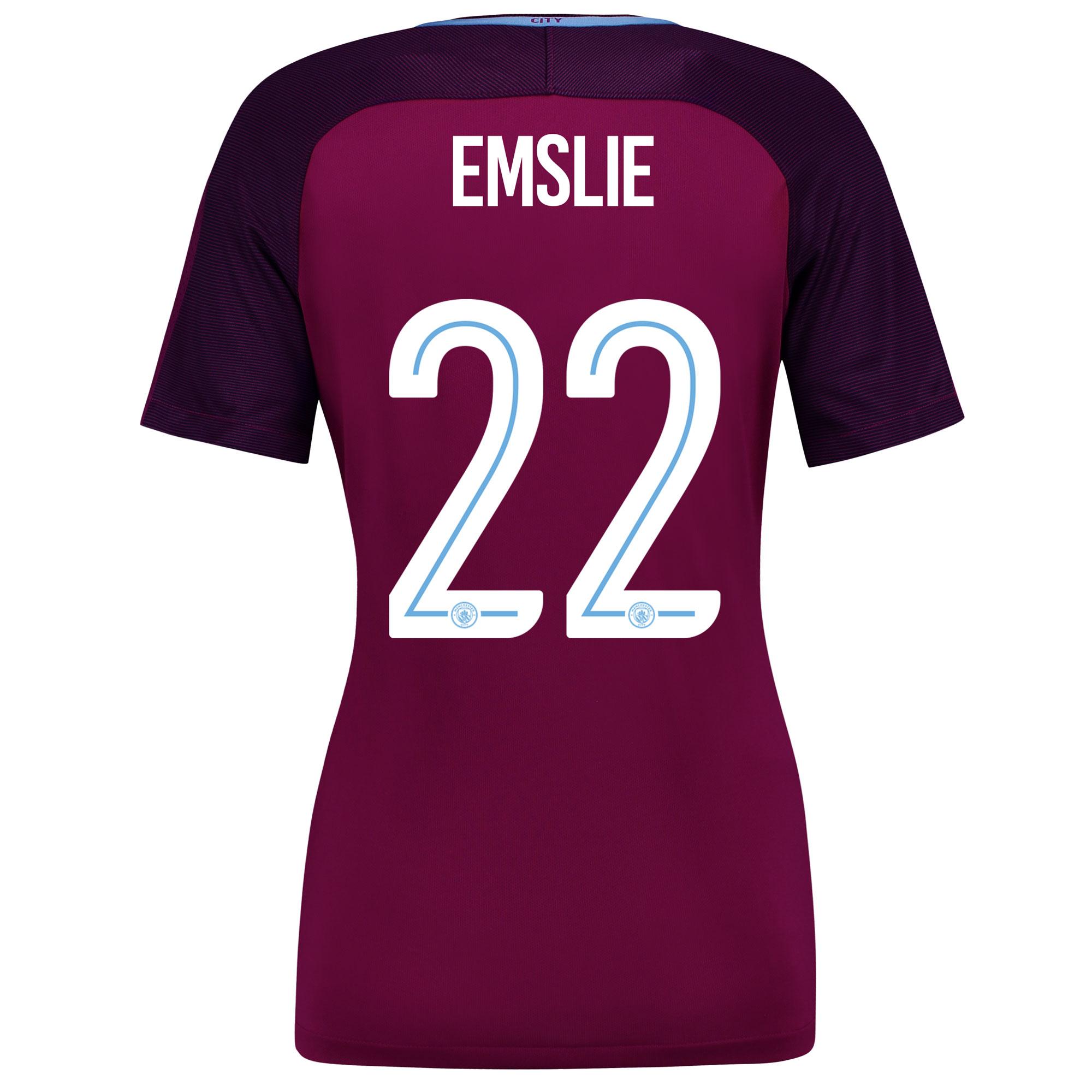 Manchester City Away Stadium Cup Shirt 2017-18 - Womens with Emslie 22