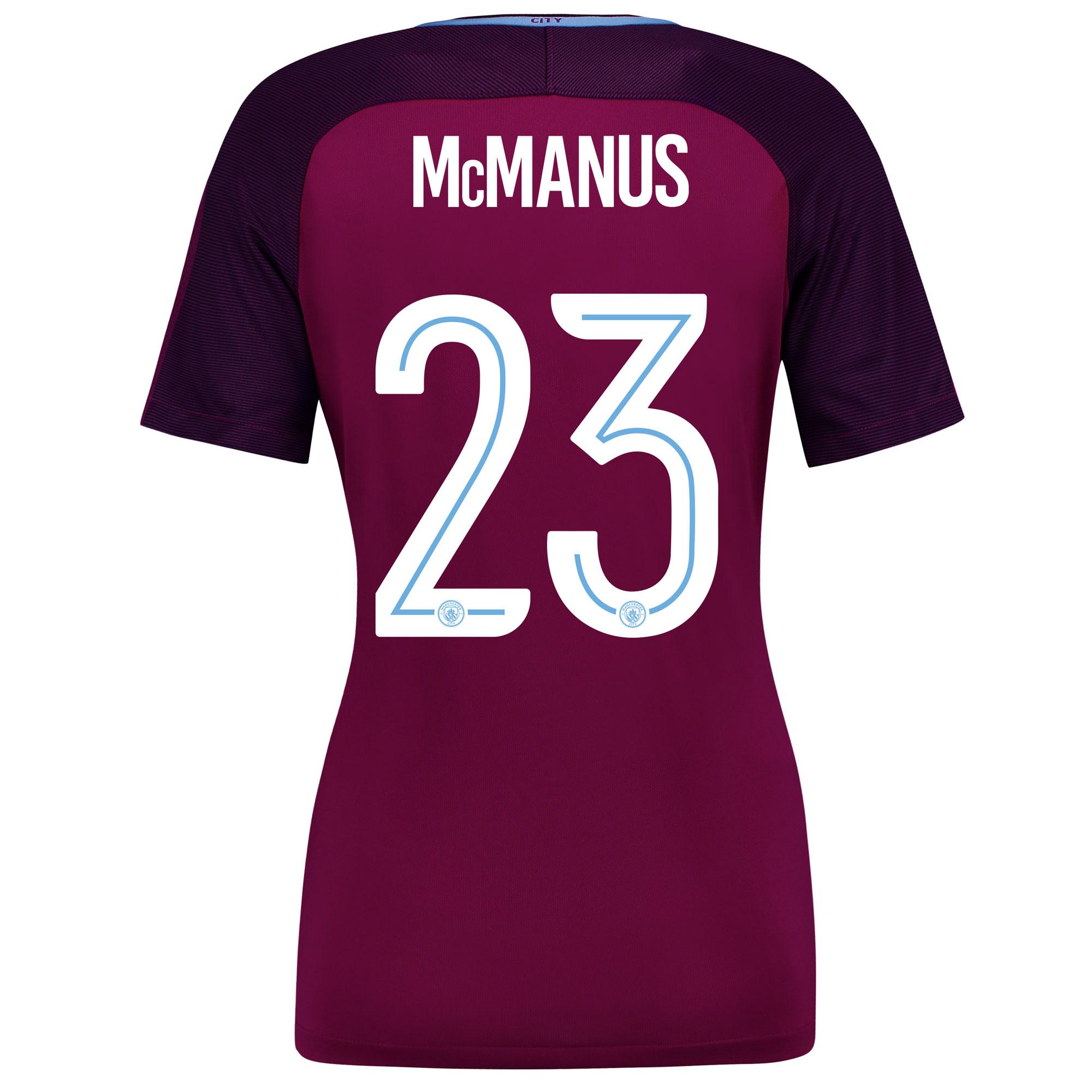 Manchester City Away Stadium Cup Shirt 2017-18 - Womens with McManus 2
