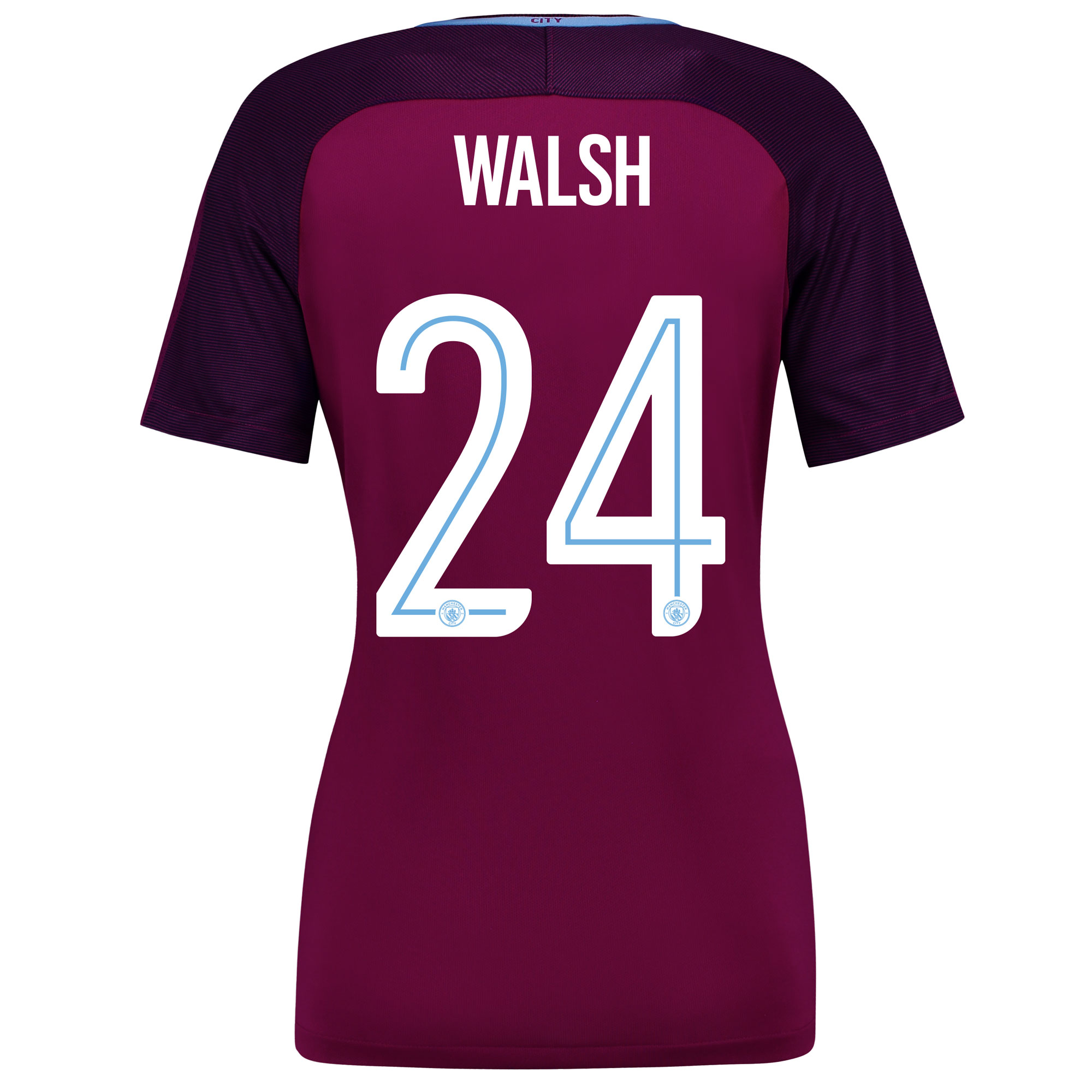 Manchester City Away Stadium Cup Shirt 2017-18 - Womens with Walsh 24