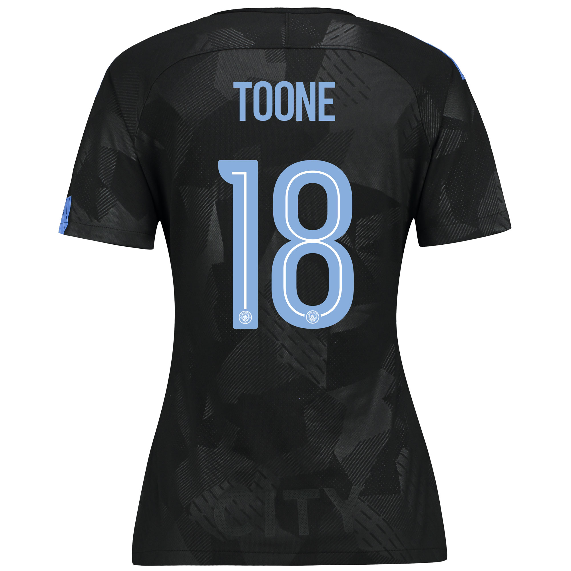 Manchester City Third Stadium Cup Shirt 2017-18 - Womens with Toone 18