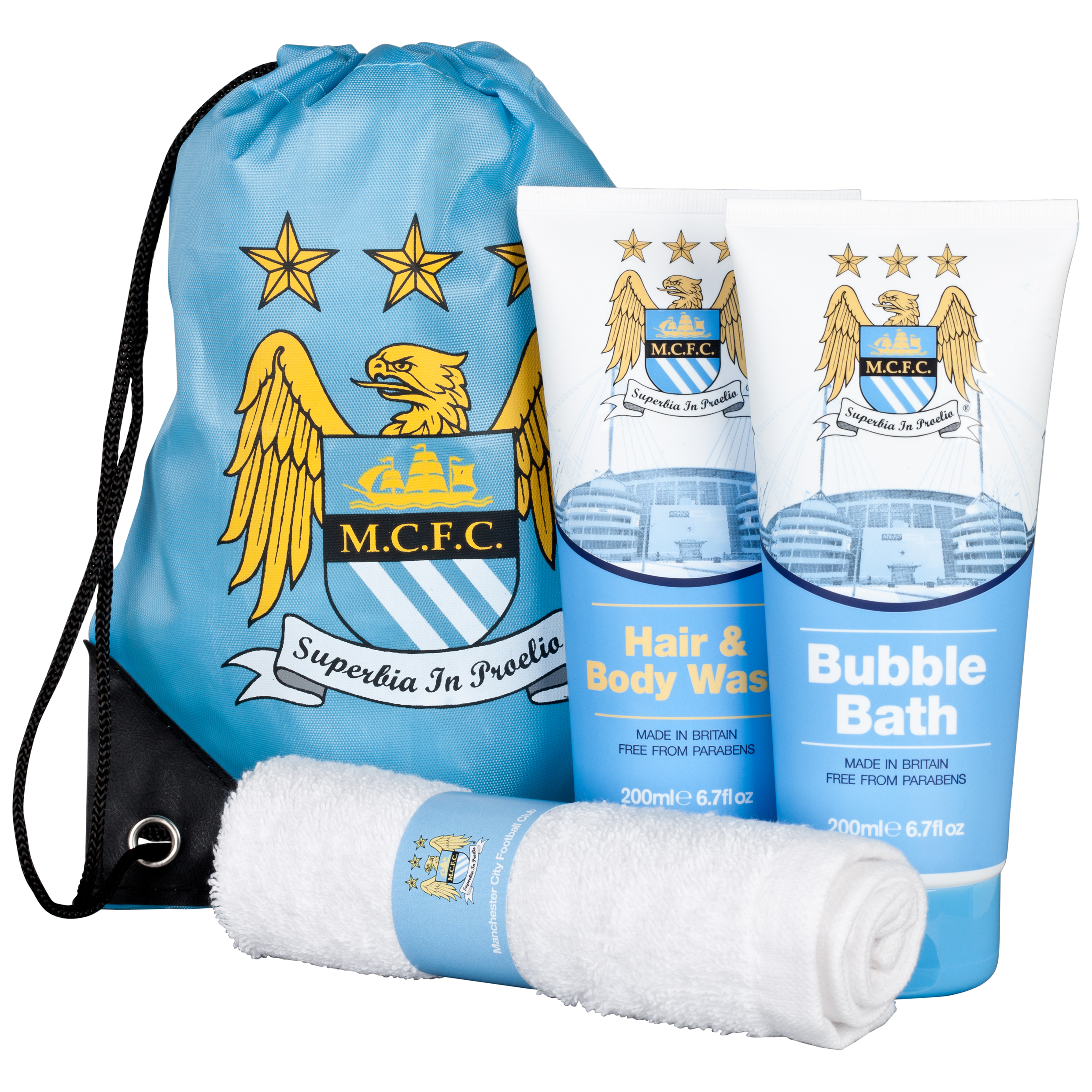 Manchester City Large Kit Bathroom Gift Set with Wash Bag