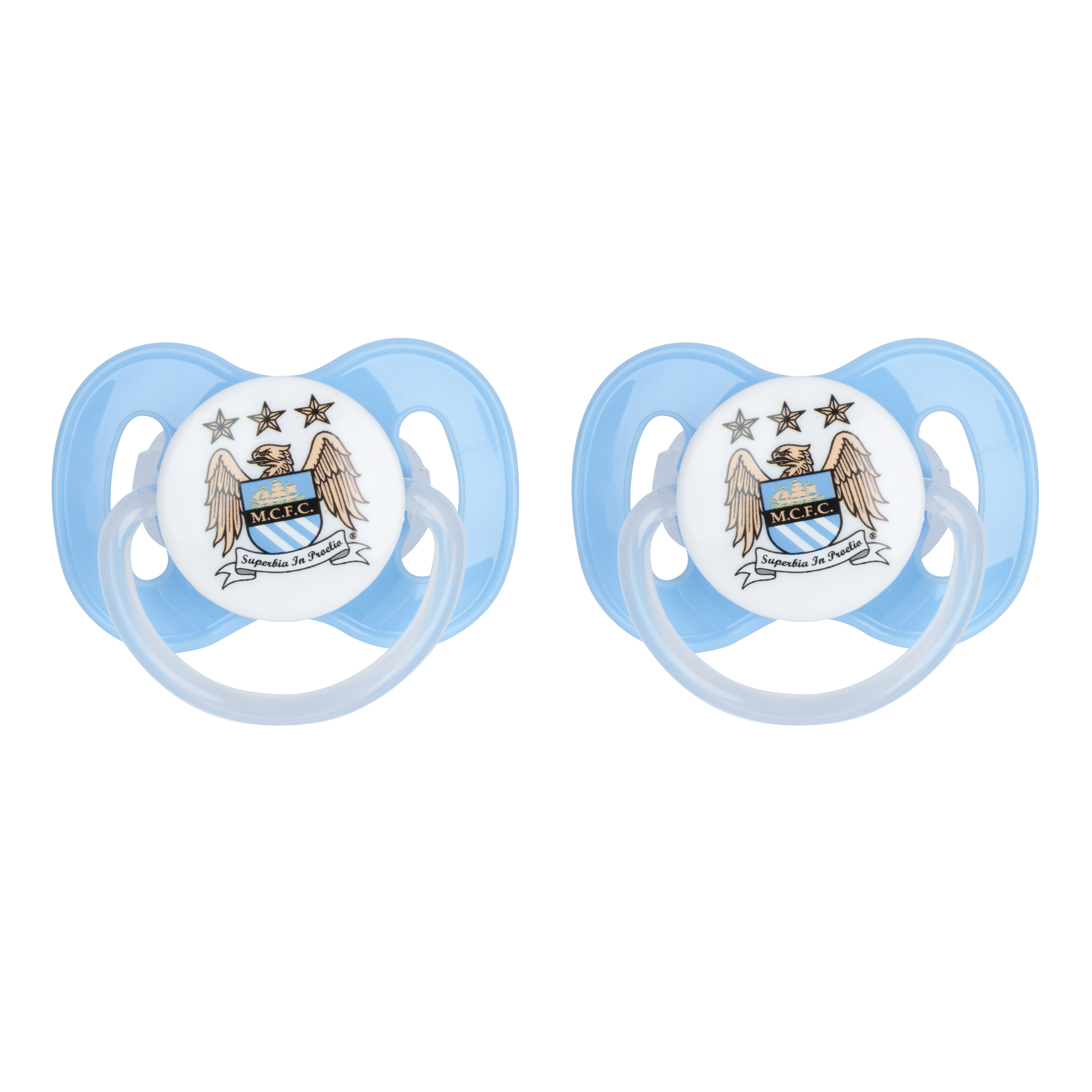 Manchester City 2 Pack of Soothers