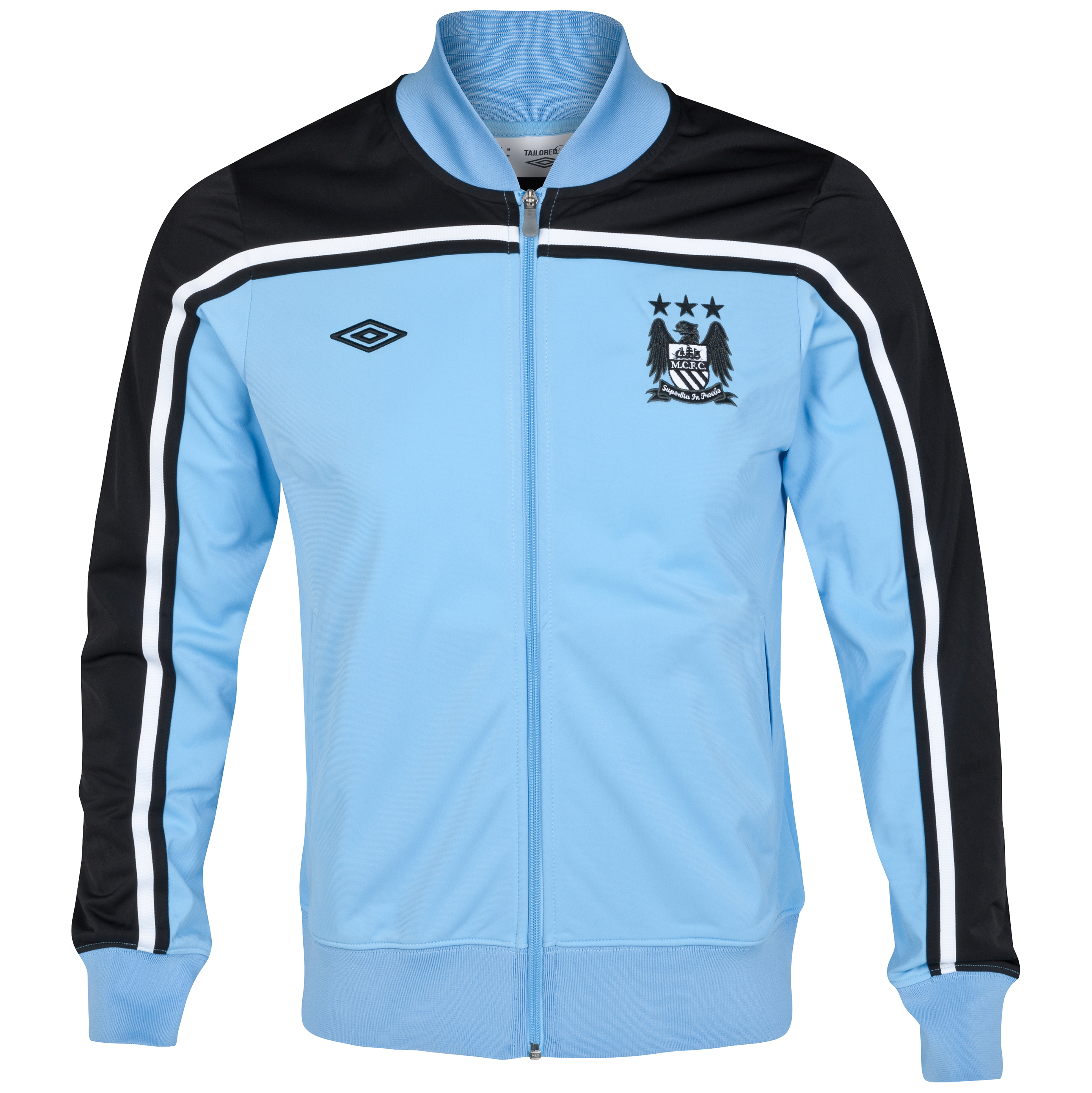 Manchester City WTC Stevenson Track Jacket - Vista Blue/Black