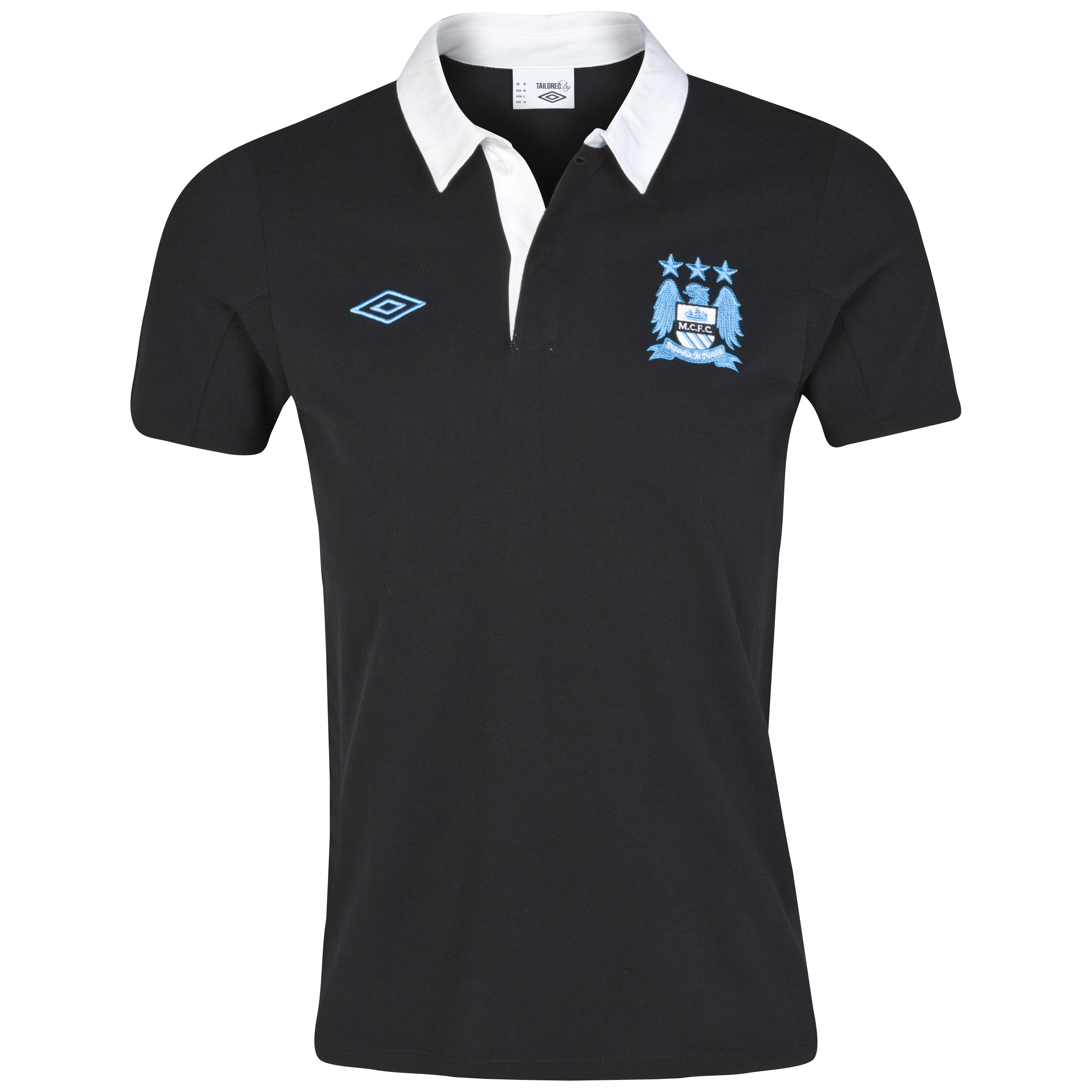 Manchester City WTC Polo - Black/White