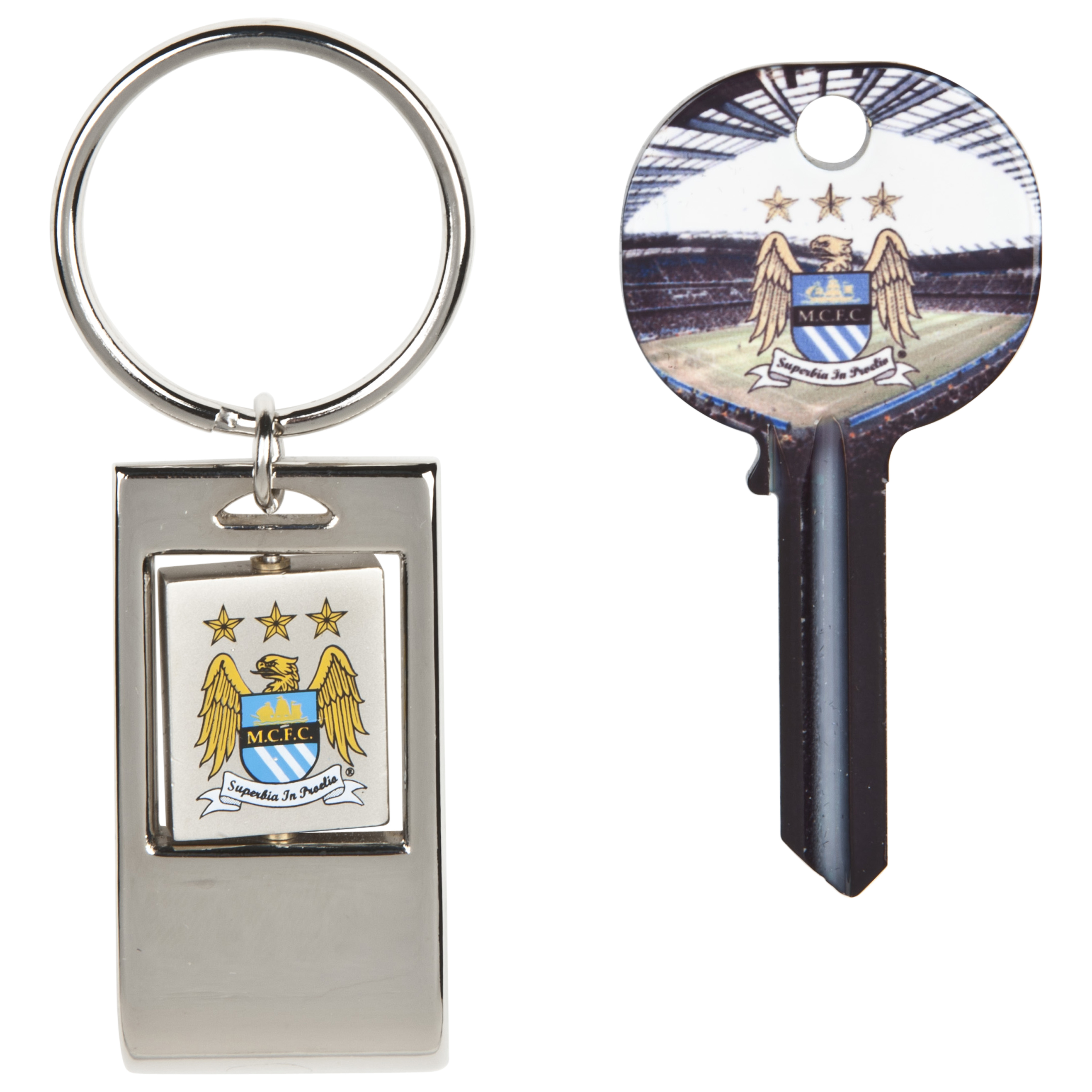 Manchester City Blank Key and Keyring in Shirt Shaped Tin