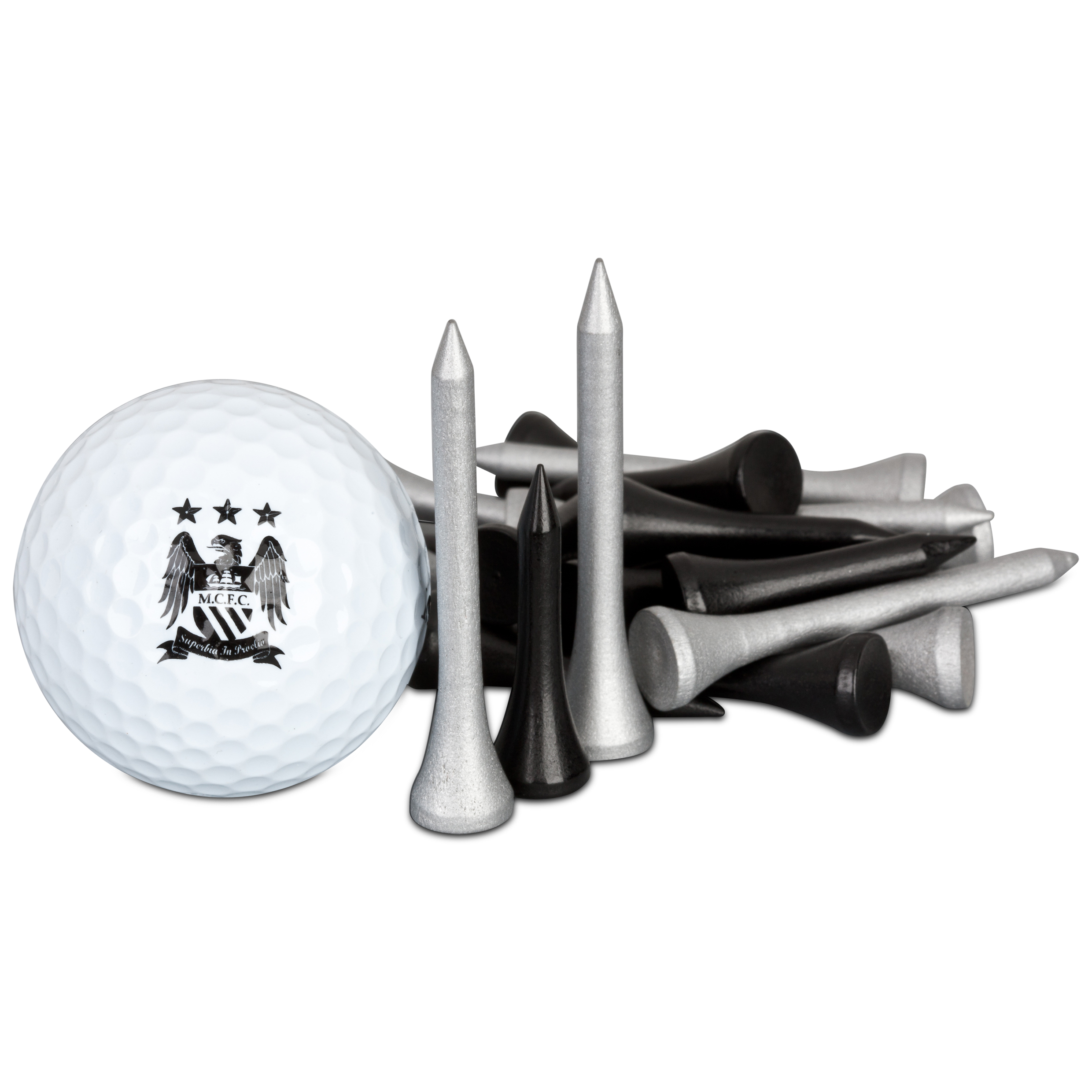 Manchester City Executive Golf Gift Ball and Tee Set