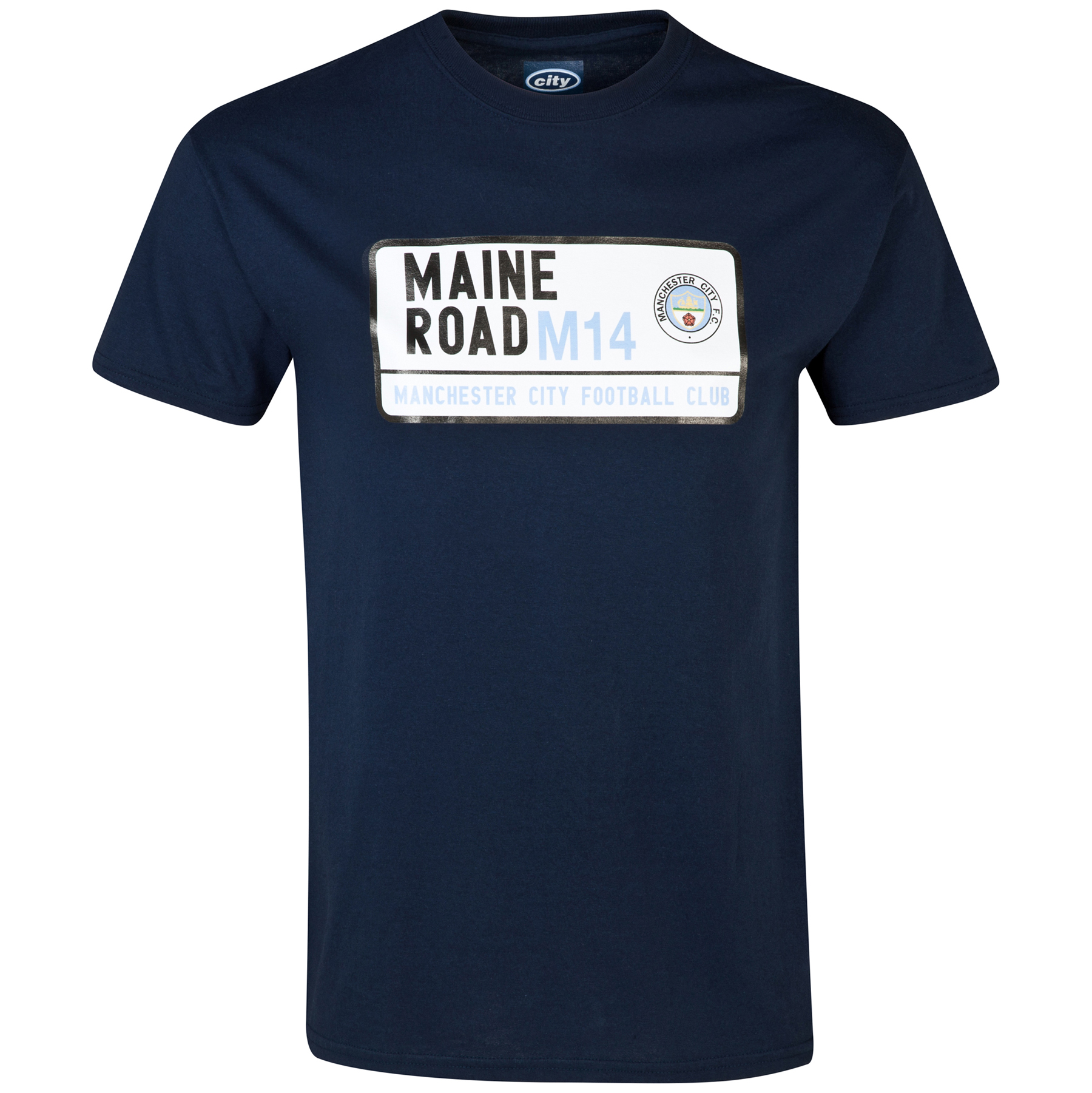 Manchester City Maine T-Shirt - Navy