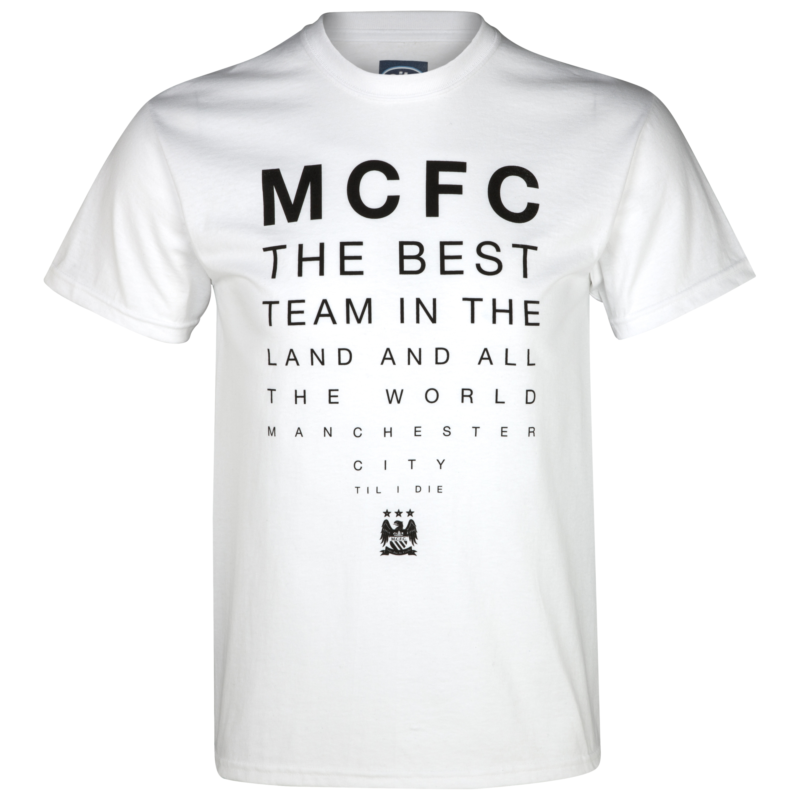 Manchester City Best Team T-Shirt - White - Mens