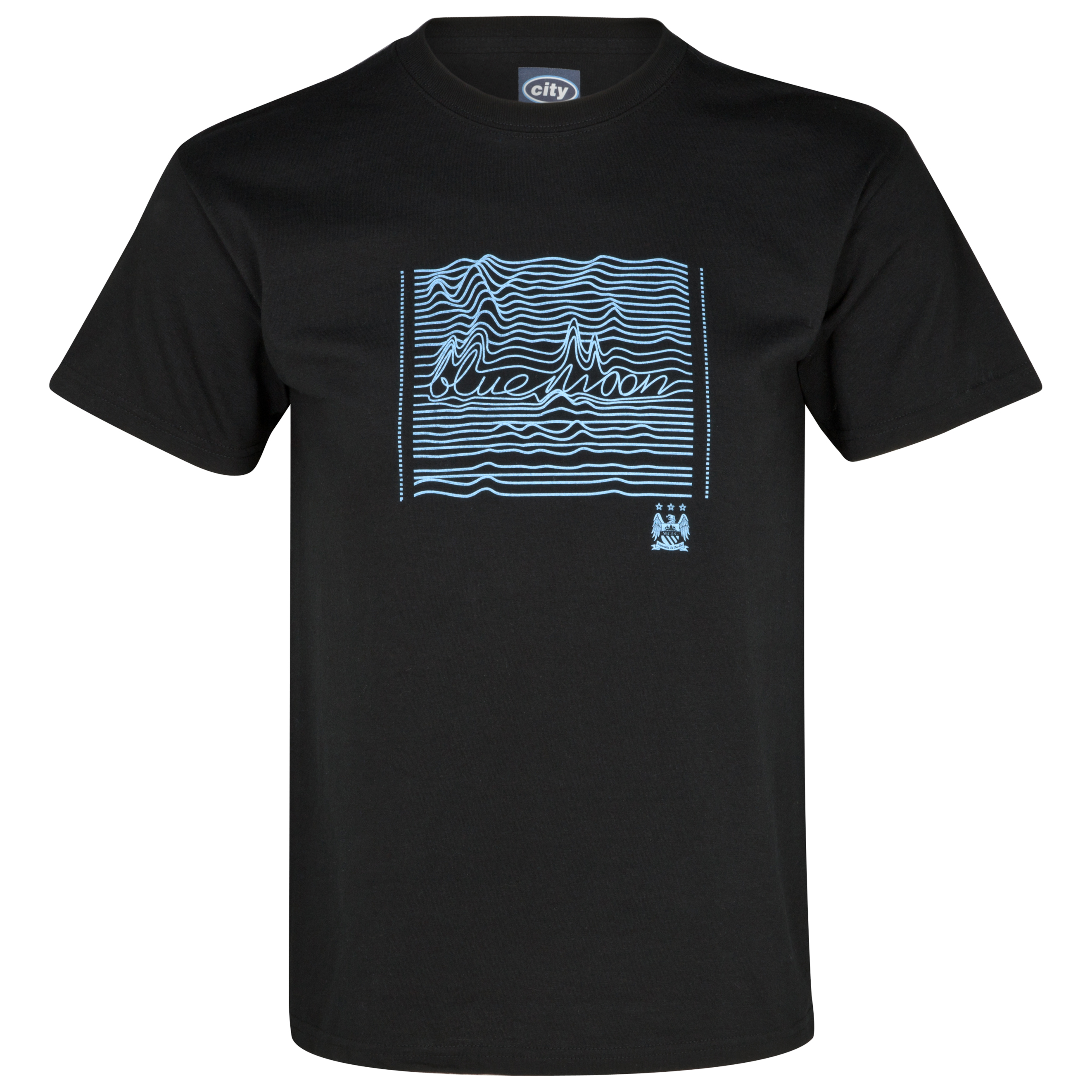 Manchester City Lines T-Shirt - Black