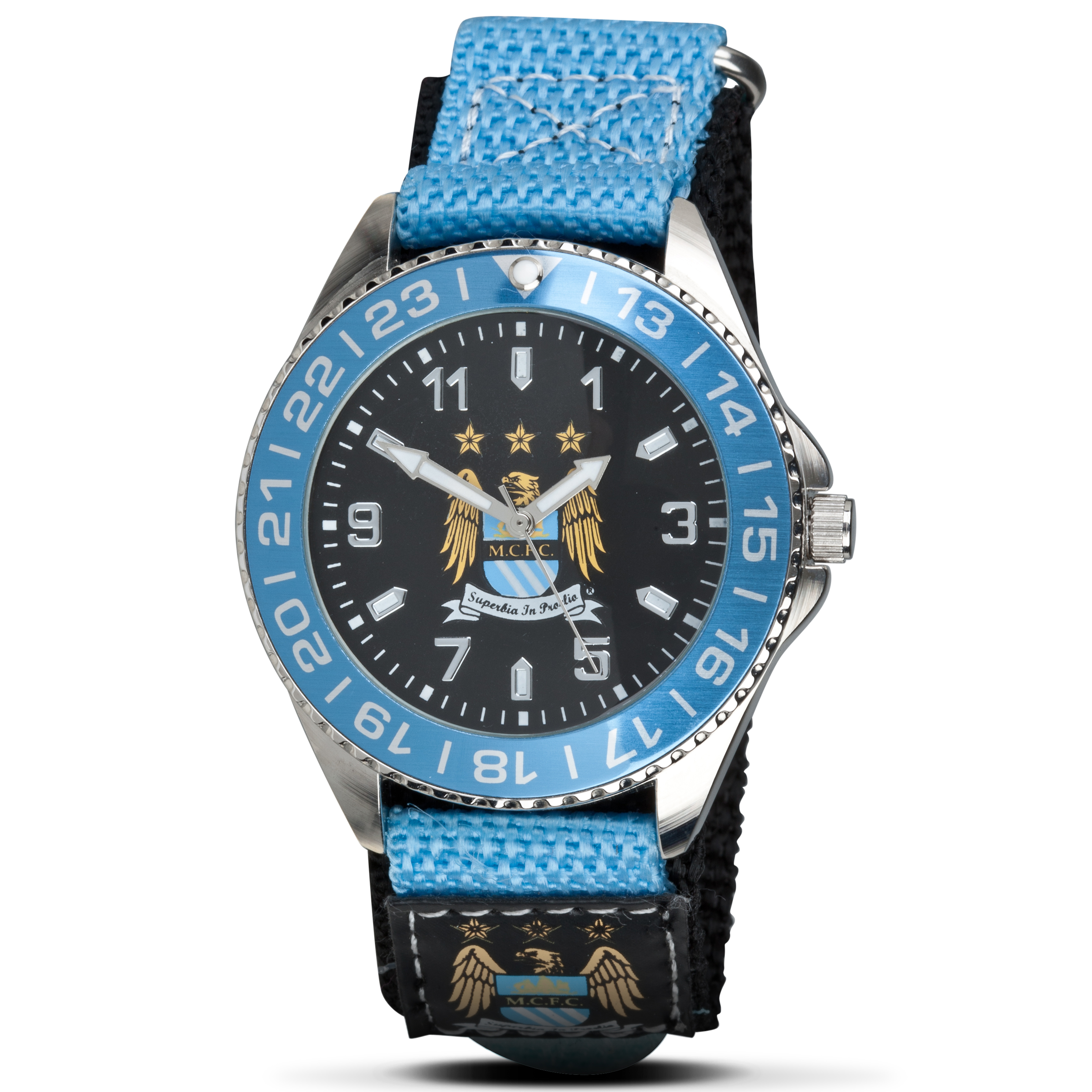 Manchester City Mens Velcro Watch
