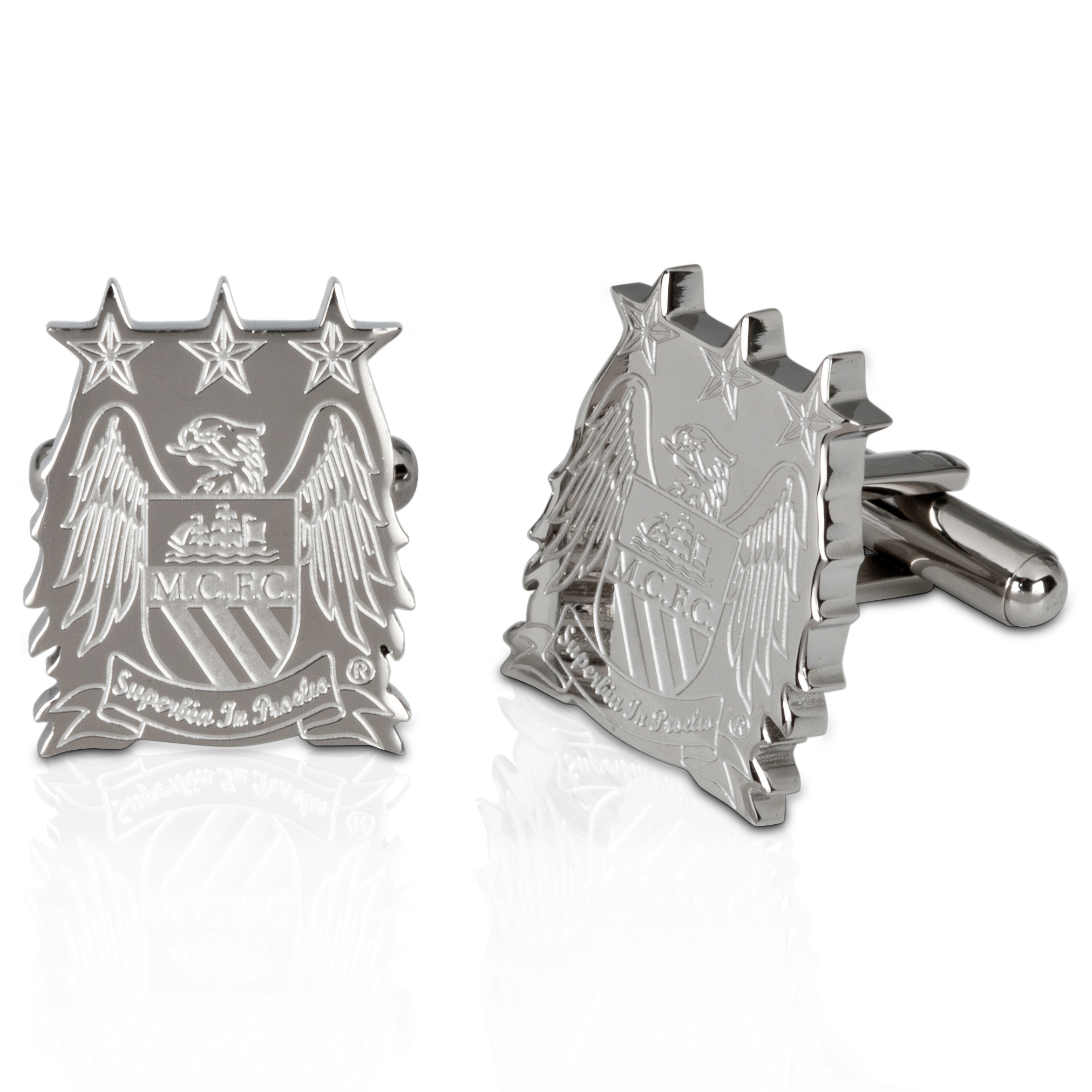 Manchester City Stainless Steel Cut Out Cufflinks
