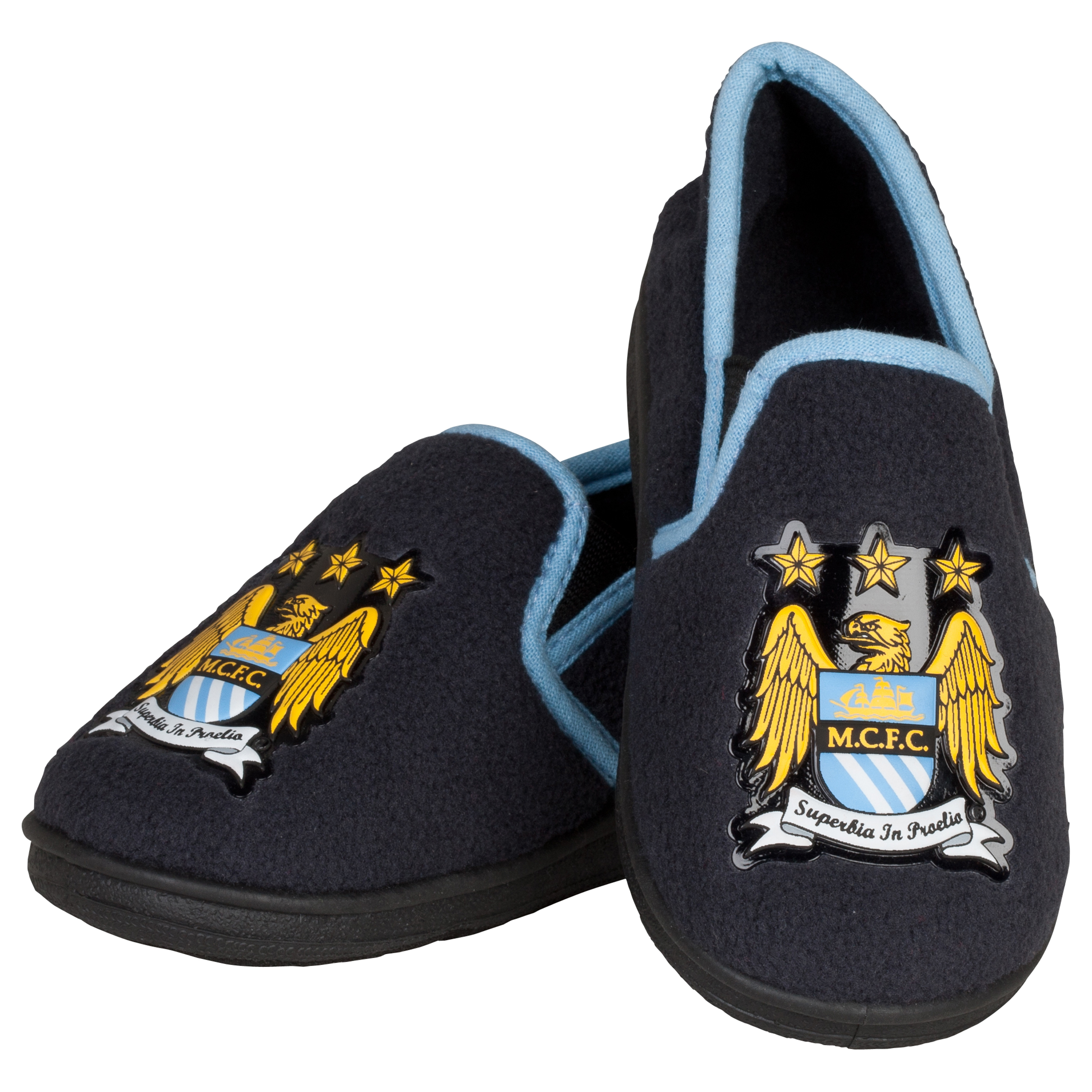 Manchester City Freddie Full Heel Slipper - Charcoal - Infant Boys