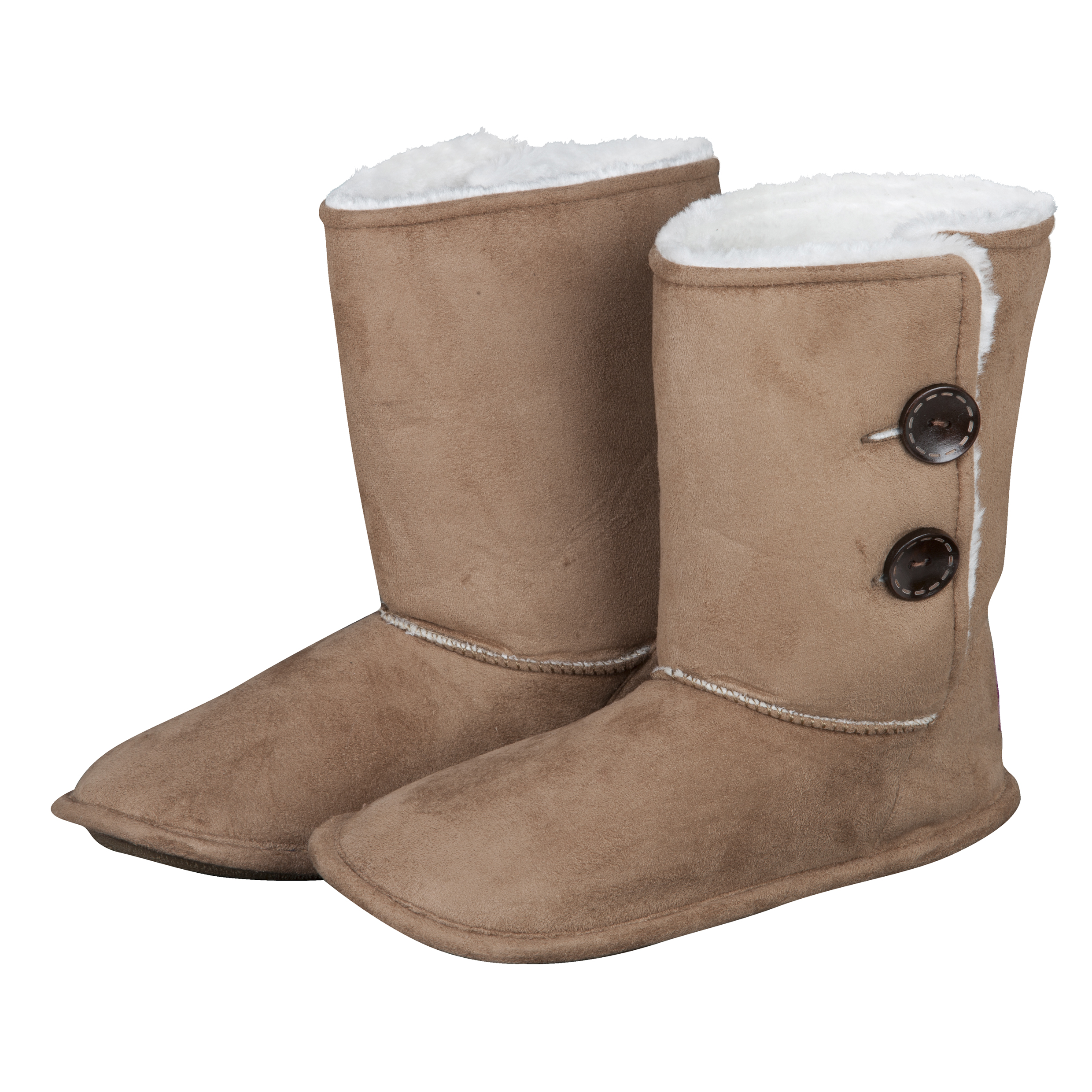 Manchester City Bella Boot Slipper - Tan - Womens