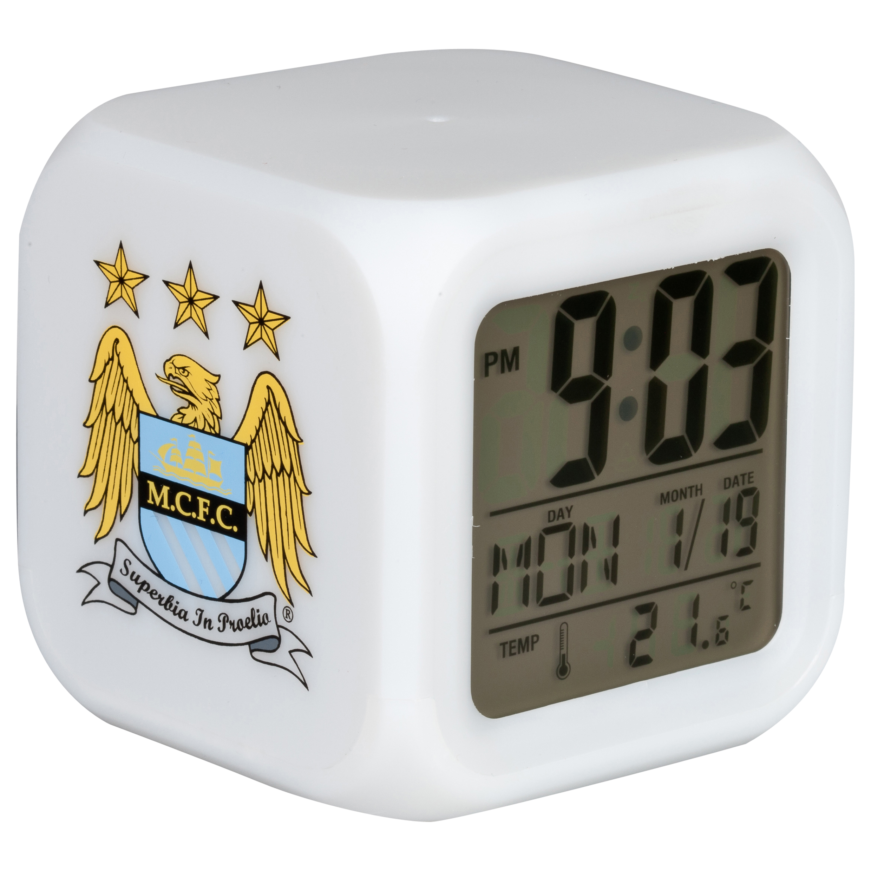 Manchester City Cube Glow Alarm Clock