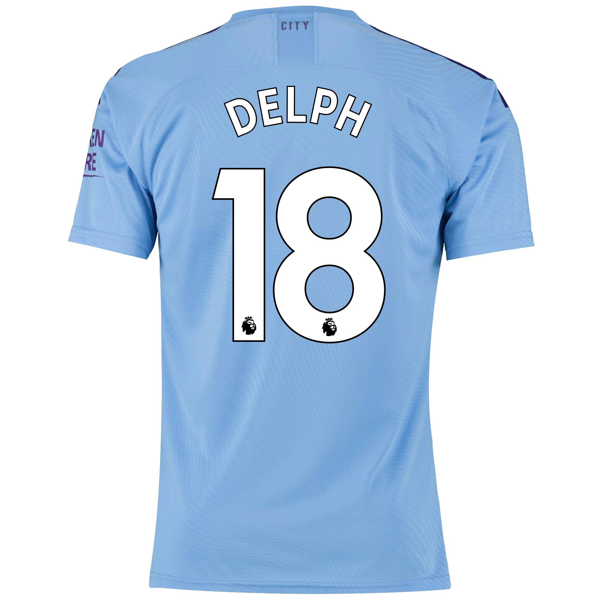 Camiseta Authentic de la 1.ª equipación del Manchester City 2019-20 dorsal Delph 18
