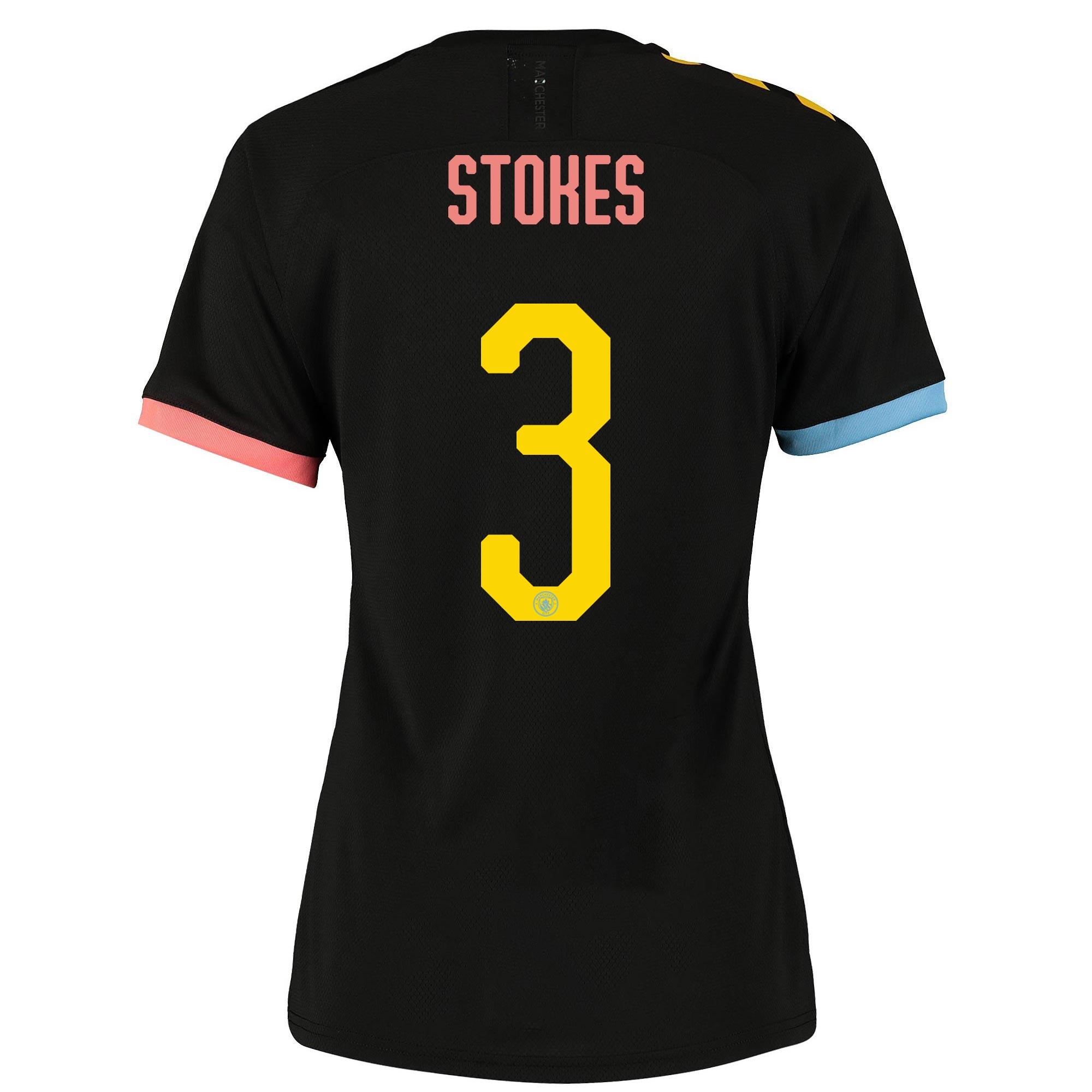 Camiseta Authentic de la 2.ª equipación del Manchester City Cup 2019-20 para mujer dorsal Stokes 3