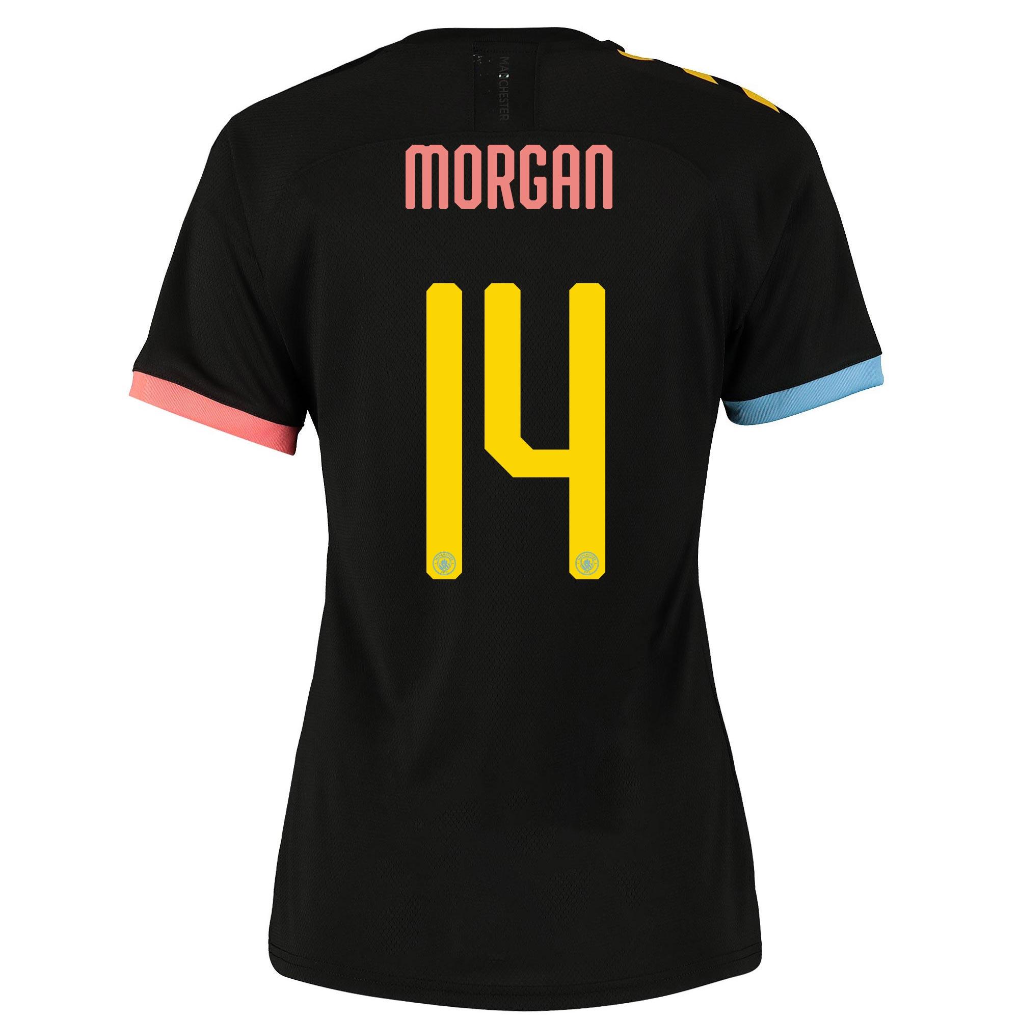 Camiseta Authentic de la 2.ª equipación del Manchester City Cup 2019-20 para mujer dorsal Morgan 14