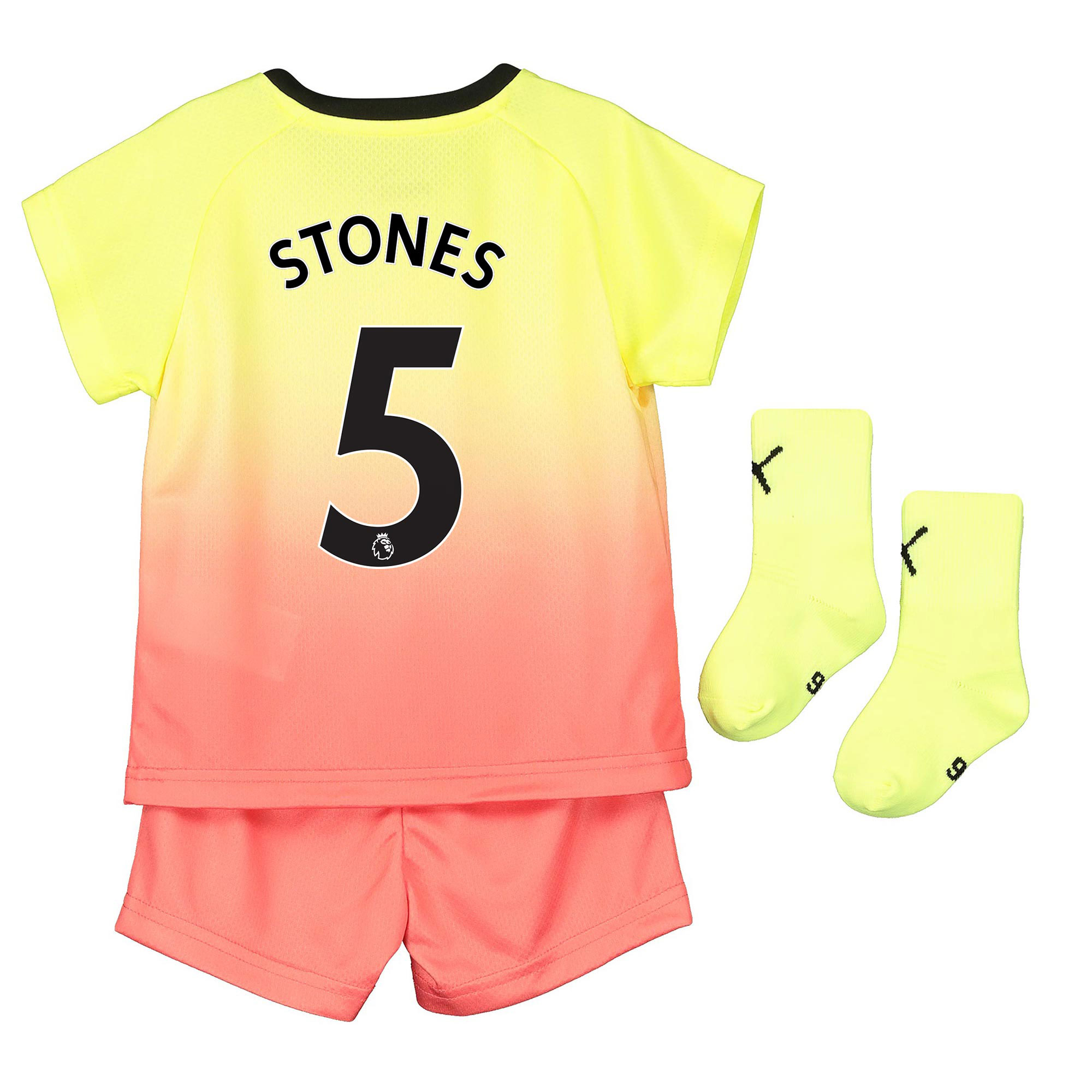 Manchester City Third Baby Kit 2019-20 with Stones 5 printing