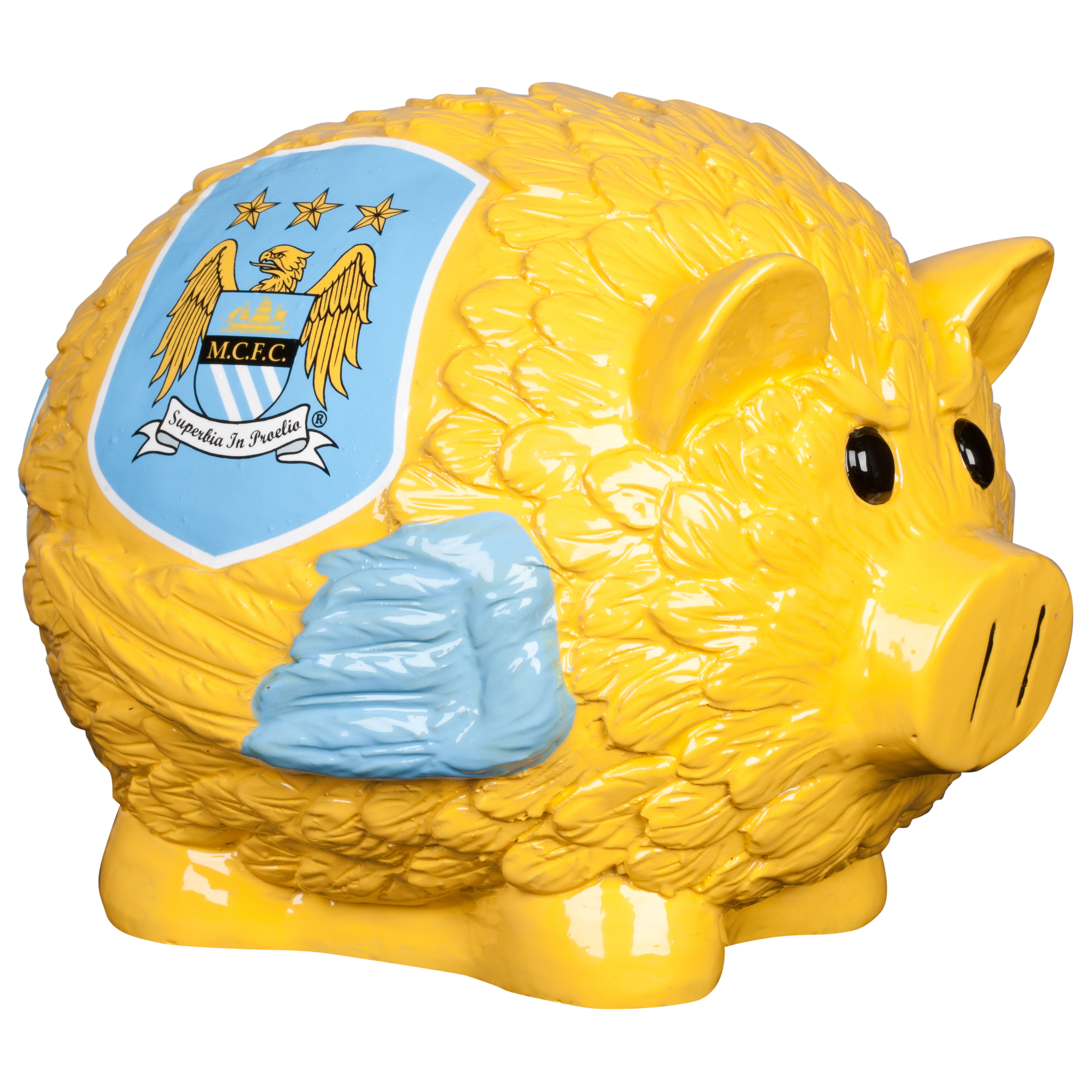 Manchester City Thematic Large Piggy Bank - 7x8.5inch