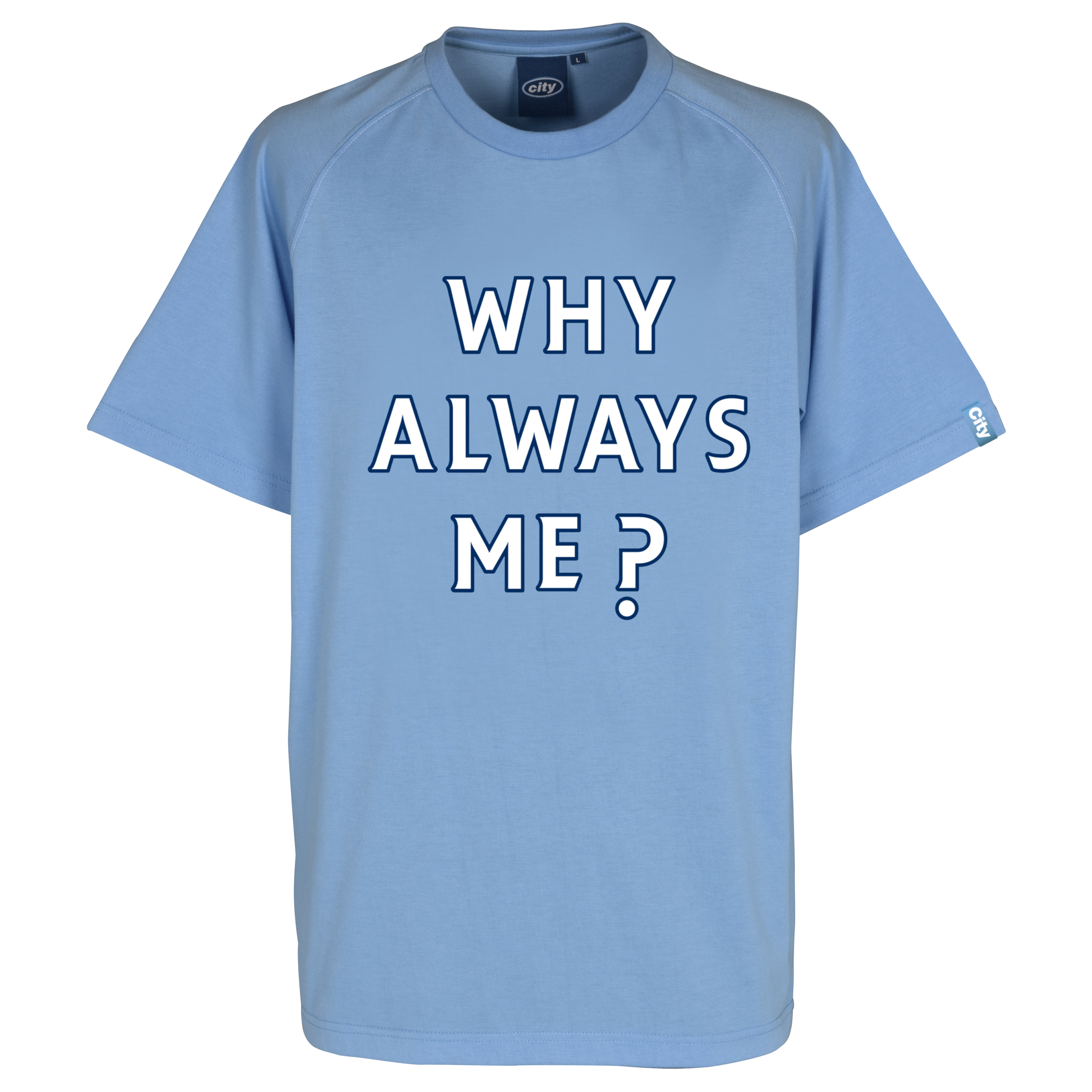Manchester City Why T-Shirt - Sky