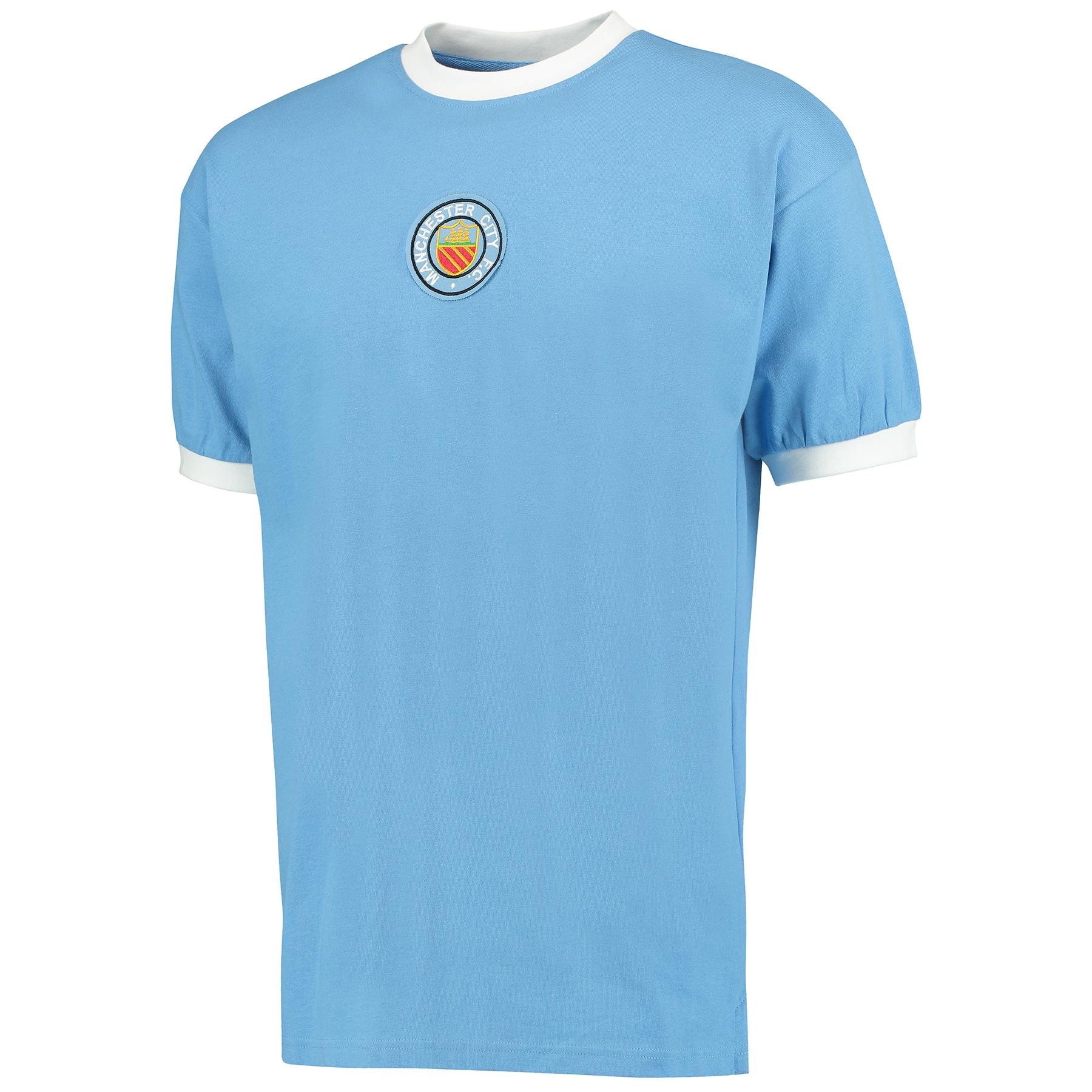 Manchester City 1970 Retro Home Shirt  Number 8