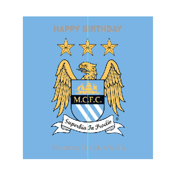Manchester City Birthday Card -Adult
