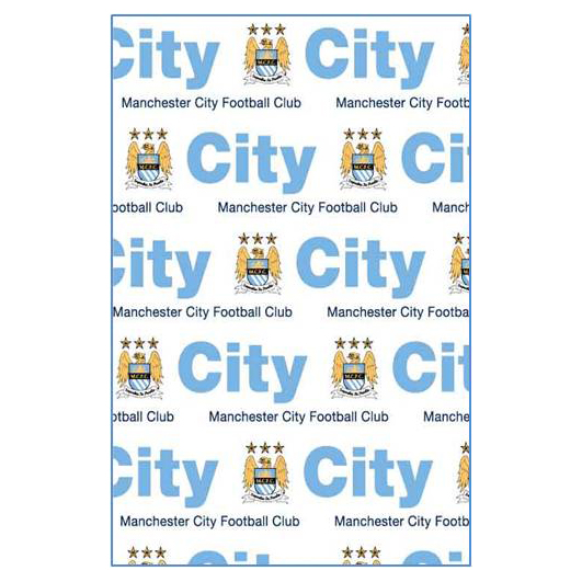 Manchester City Gift Wrap and Tags