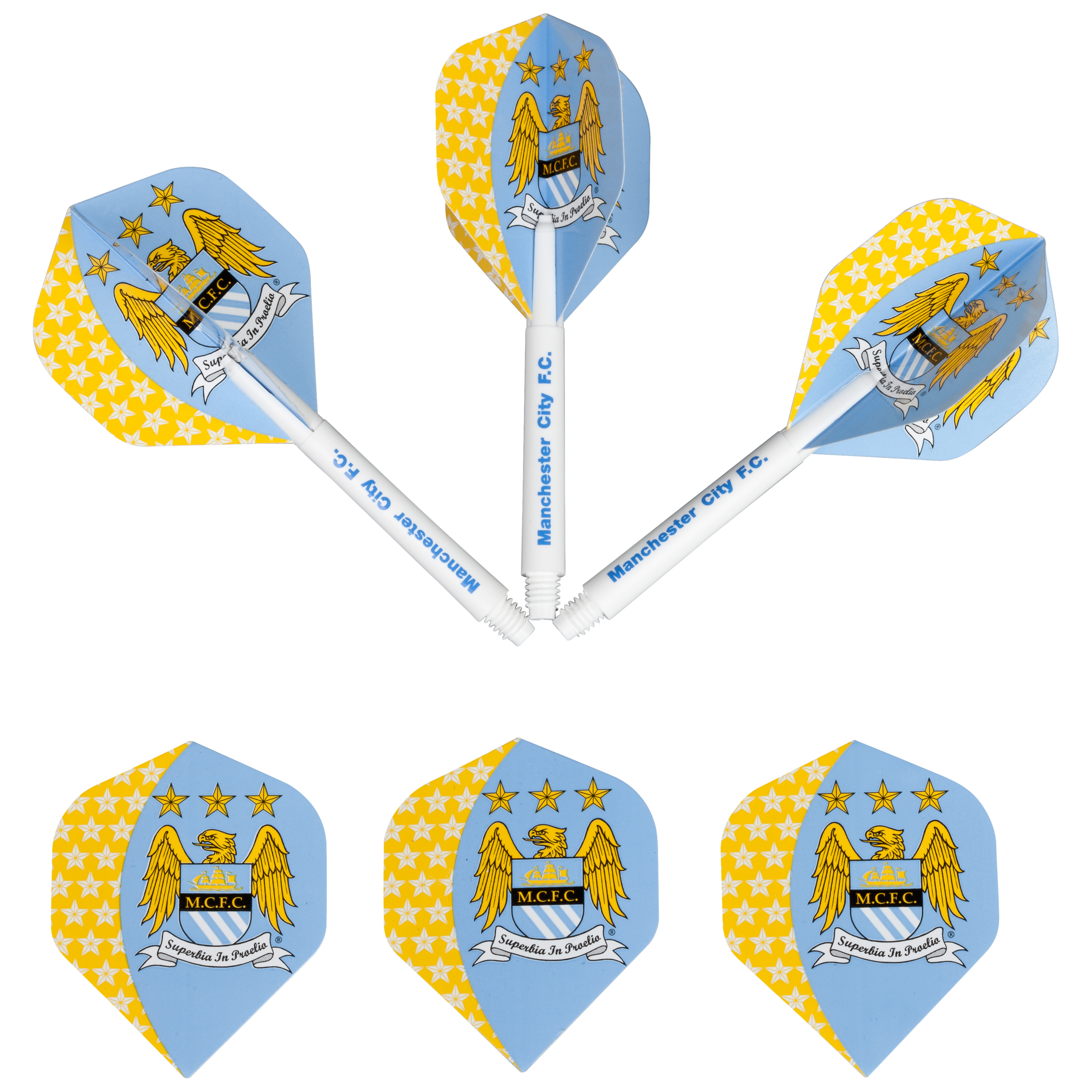 Manchester City Dart Flights and Cane Pack