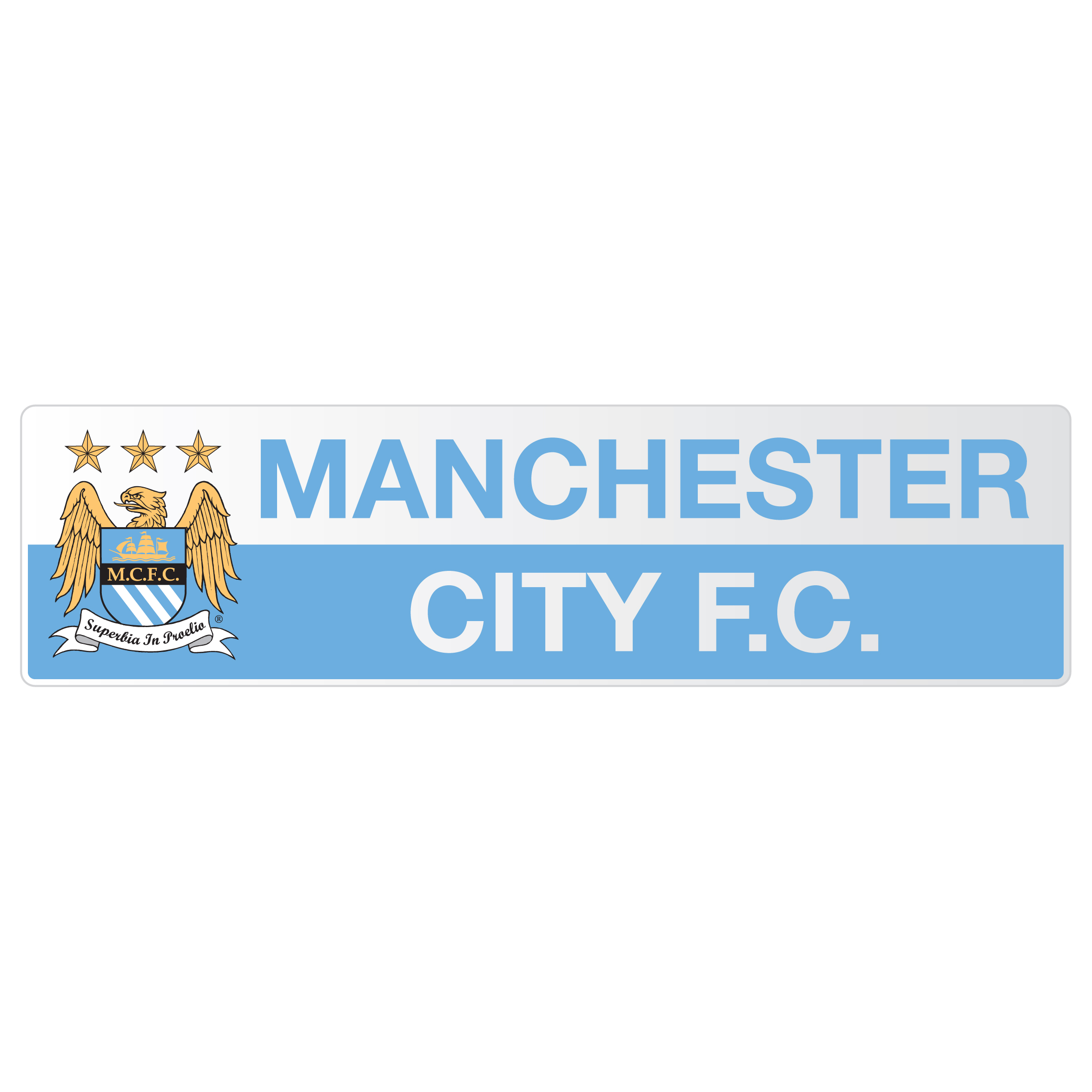 Manchester City Rectangle Car Sticker
