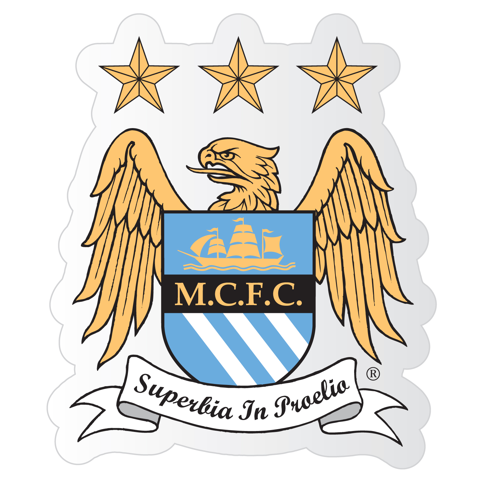 Manchester City Small Crest Car Sticker