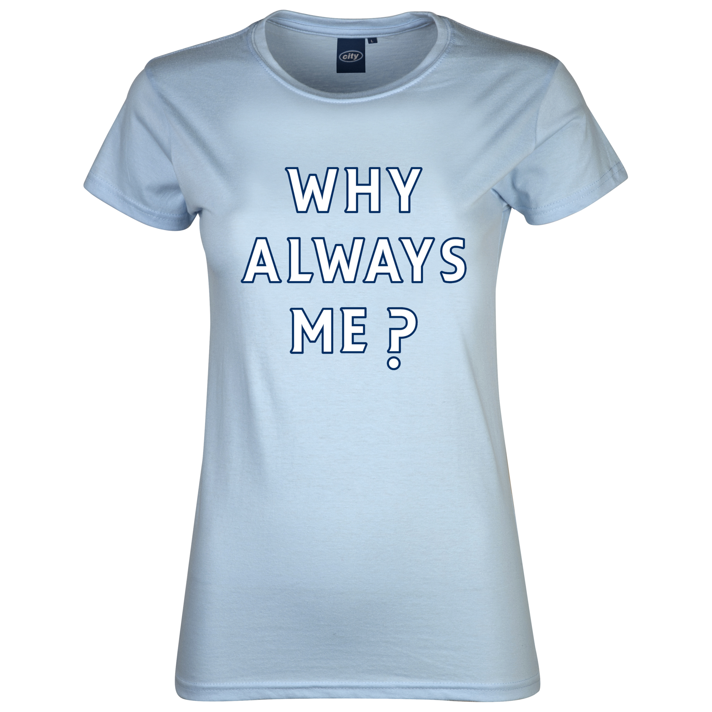 Manchester City Why T-Shirt - Sky - Womens
