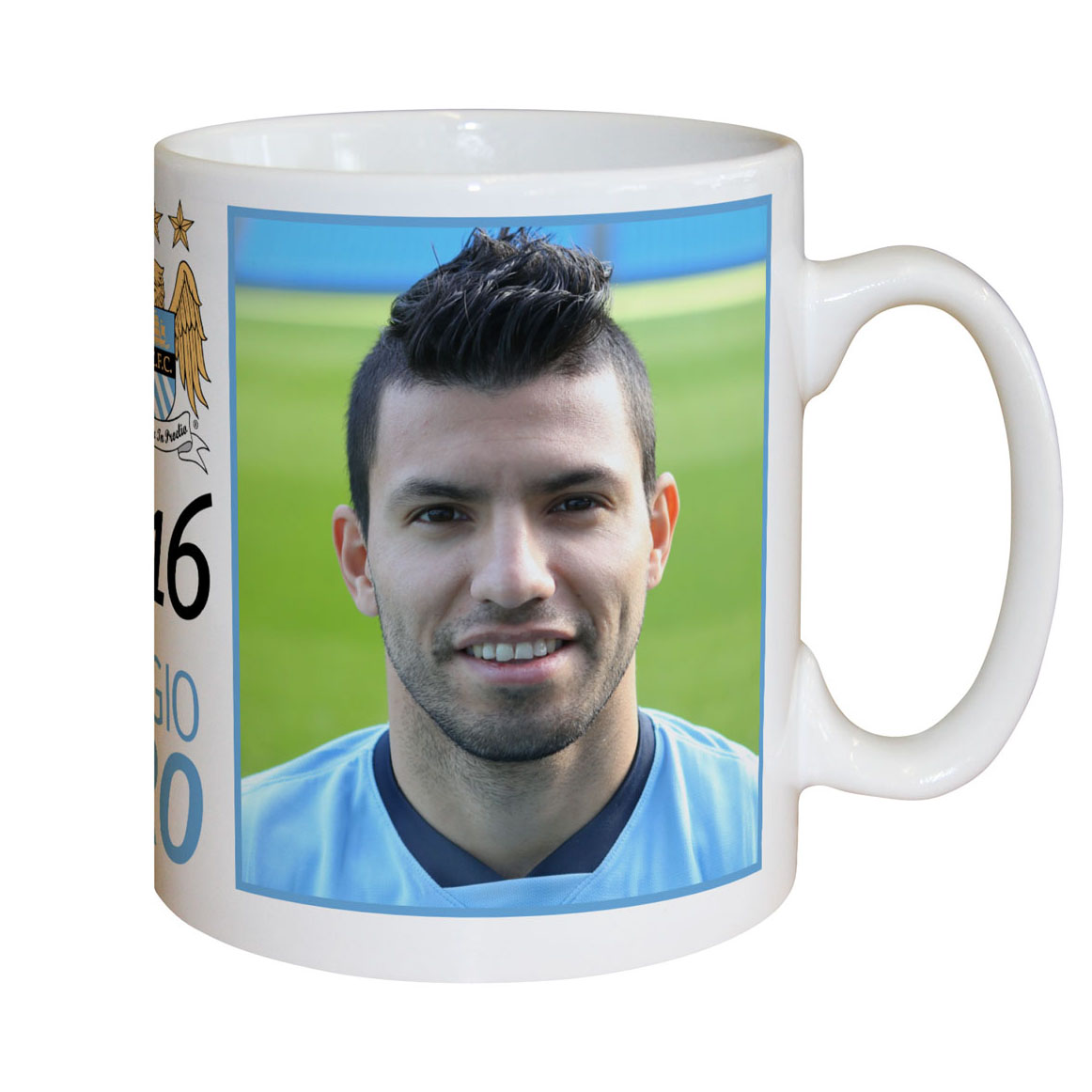 Manchester City Personalised Aguero Mug