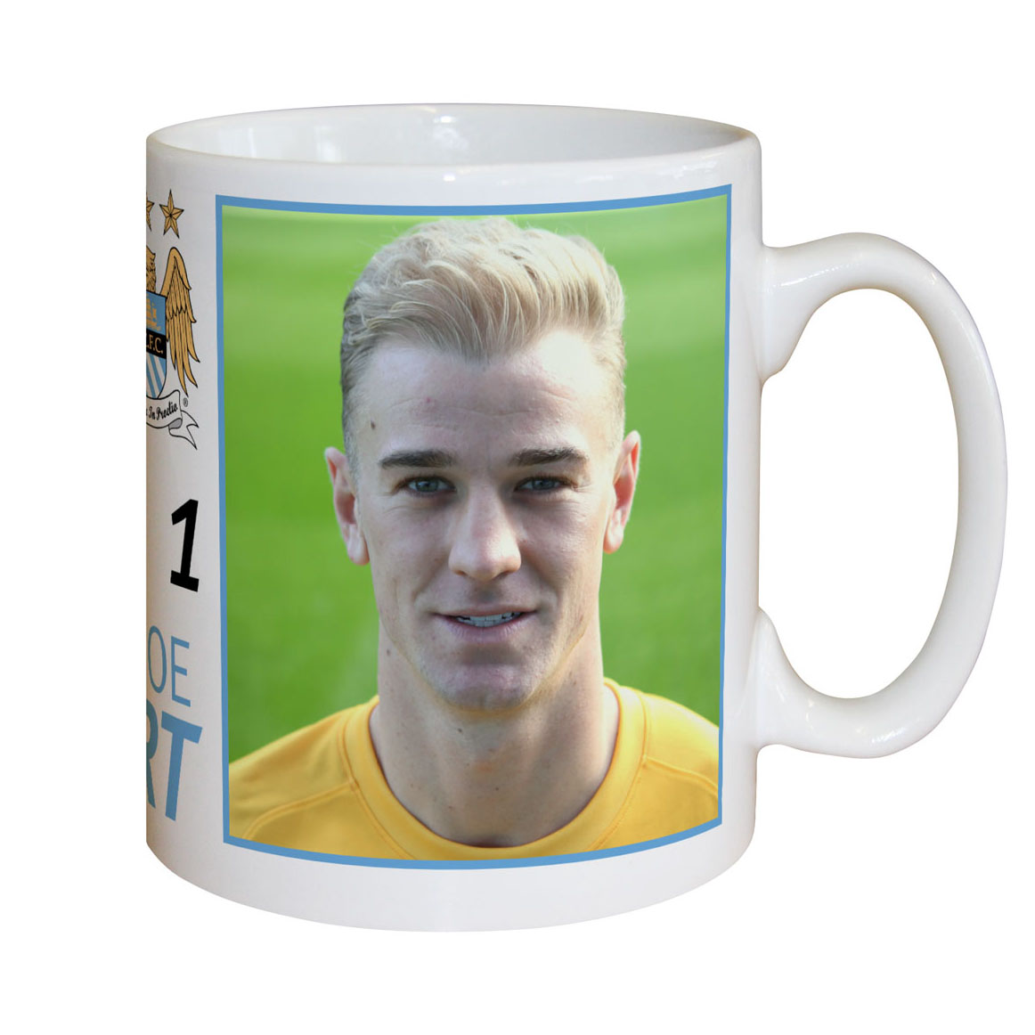 Manchester City Personalised Hart Mug