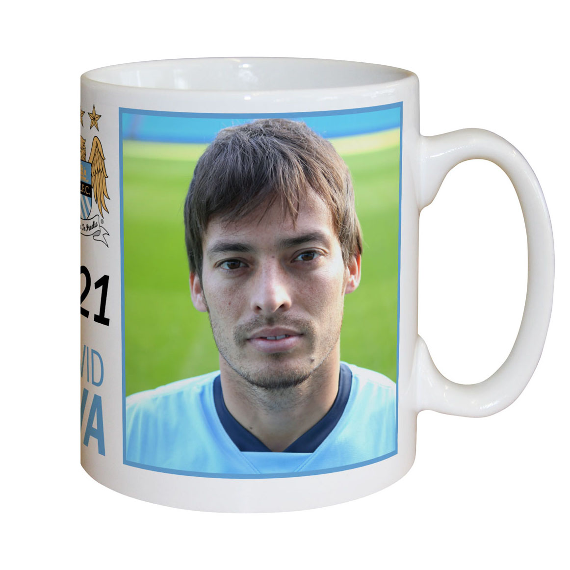 Manchester City Personalised Silva Mug