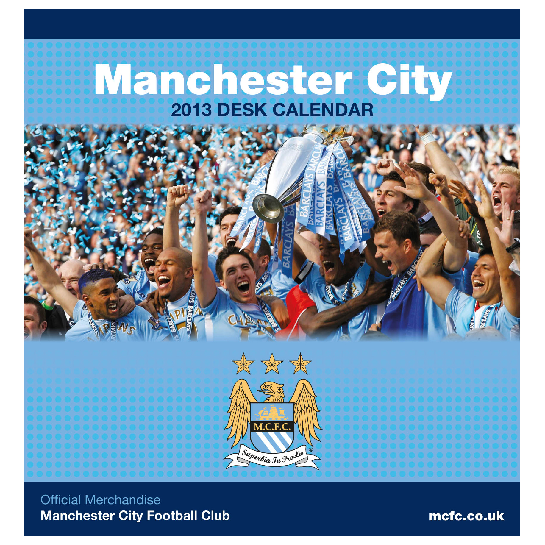 Manchester City Desk Calendar 2013