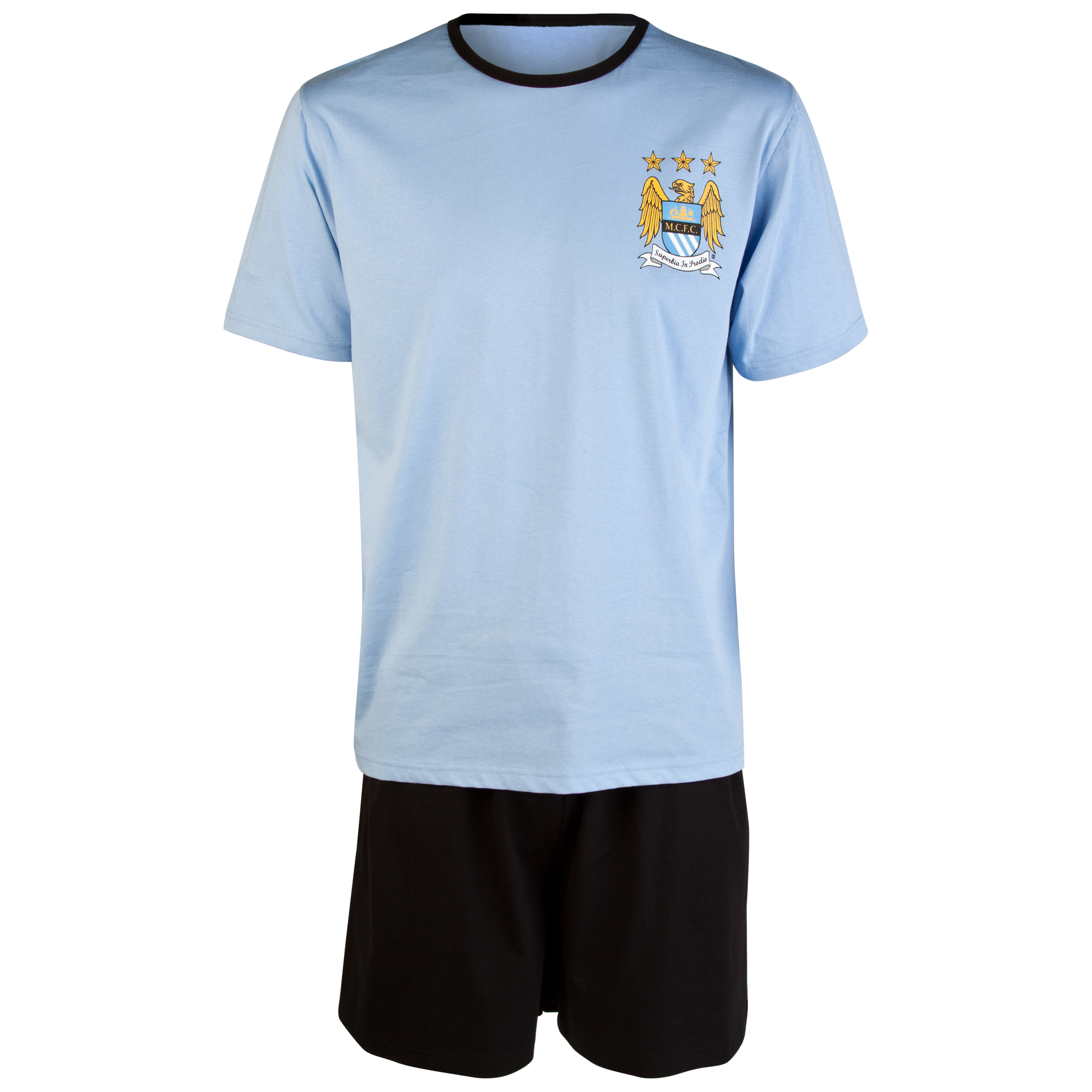 Manchester City Short Ringer Pyjama-Sky/Black
