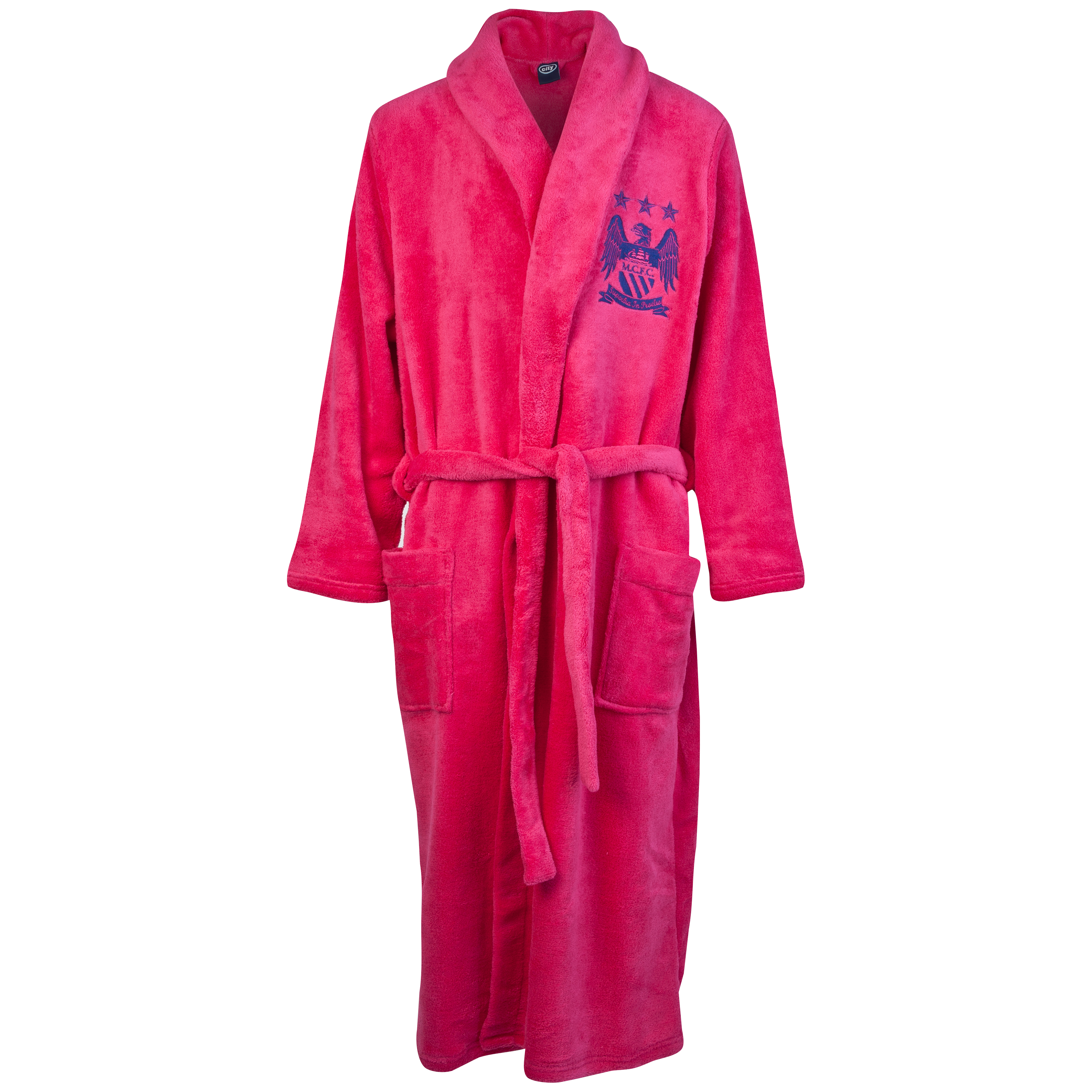 Manchester City Supersoft Robe - Pink - Womens