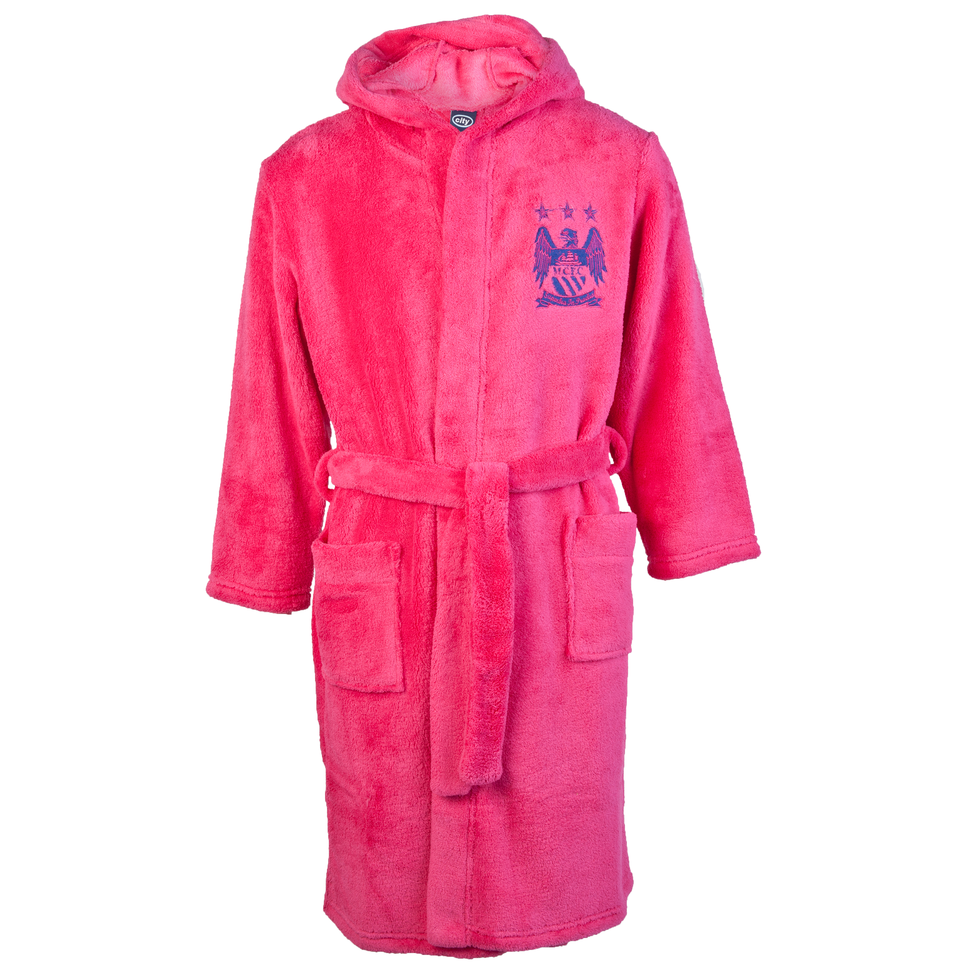 Manchester City Supersoft Robe - Pink - Girls
