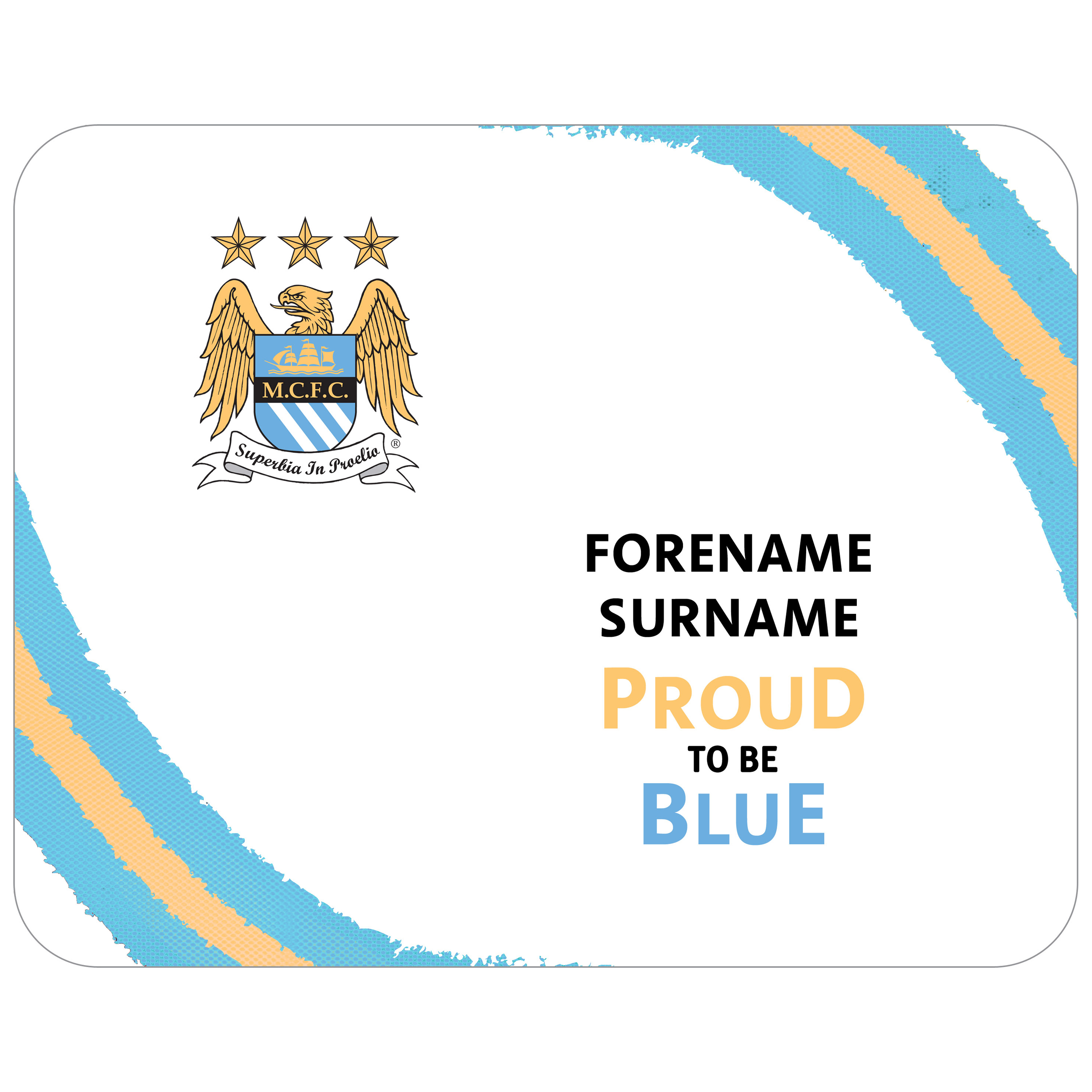 Manchester City Personalised Proud to be Blue Mouse Mat