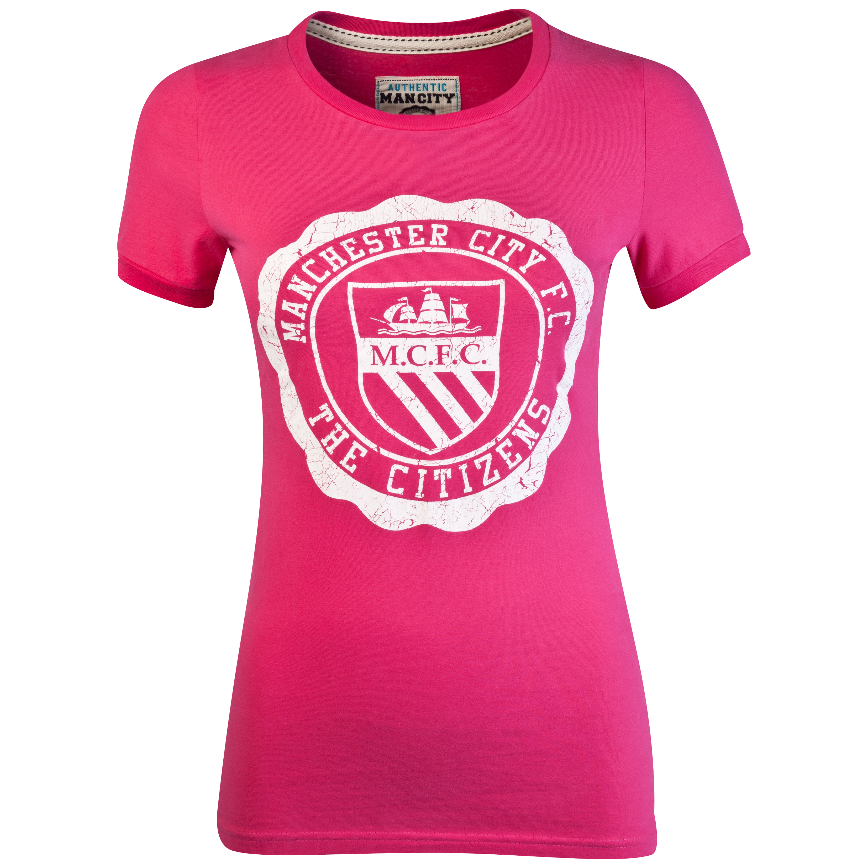 Manchester City Rosa T-Shirt - Pink - Womens