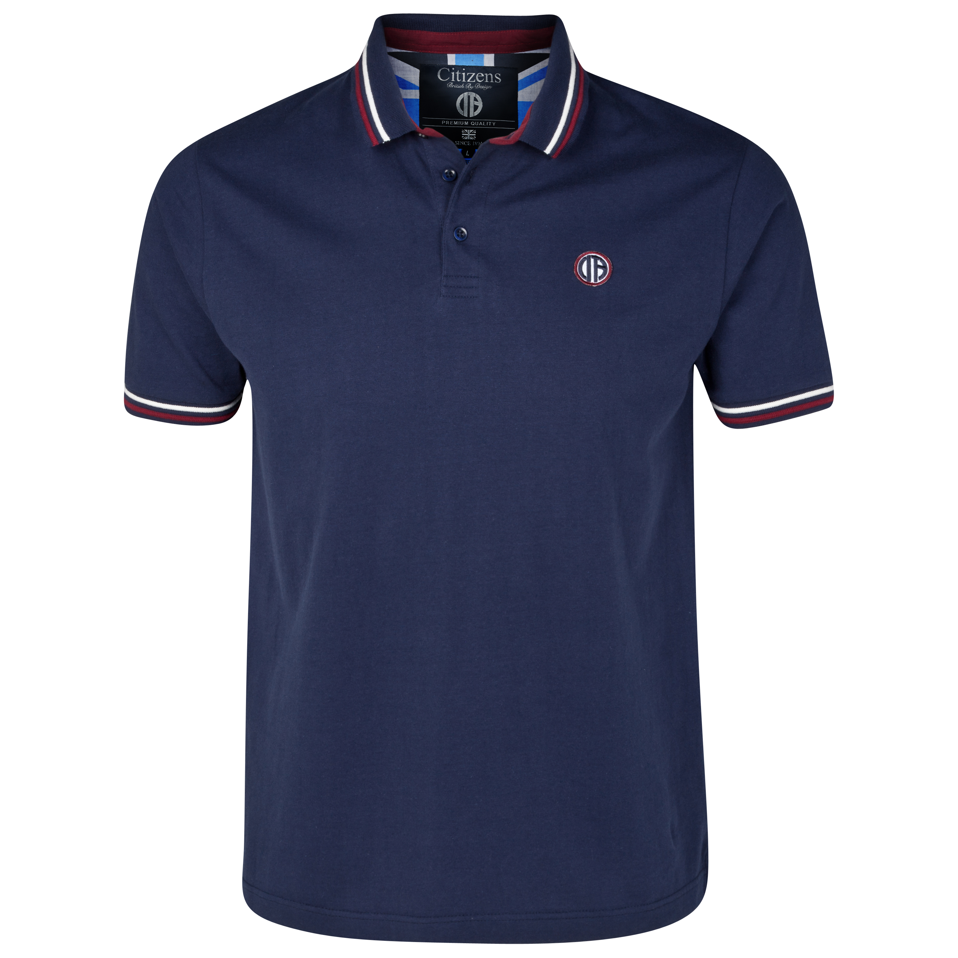 Manchester City Quad Polo Top - Navy