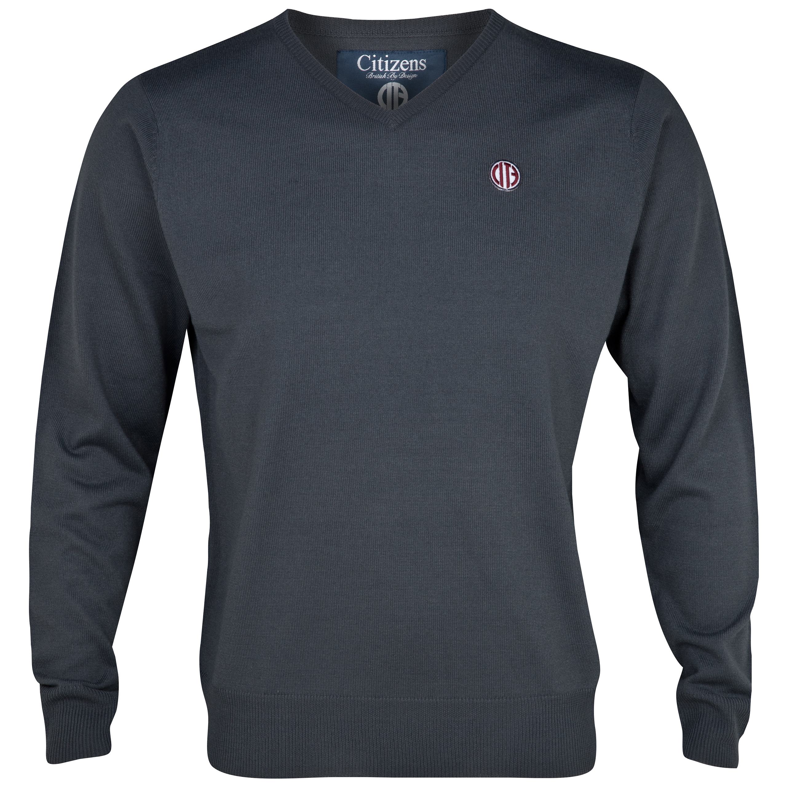 Manchester City  Brit Jumper-Charcoal