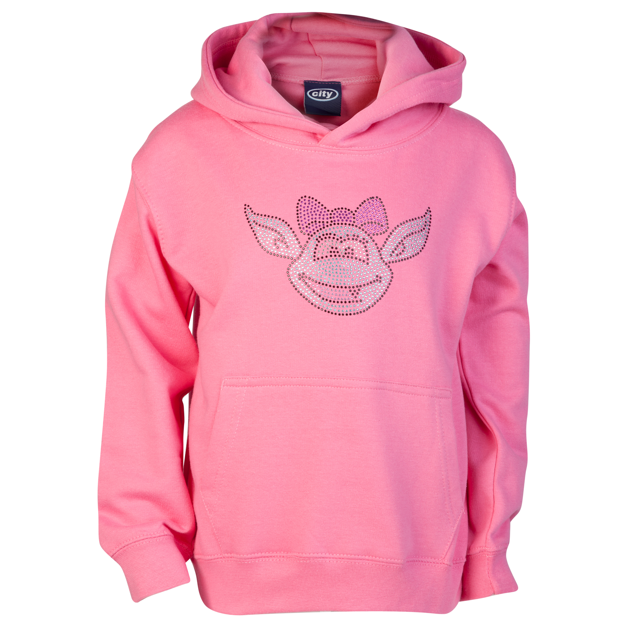 Manchester City Rhinestone Mascot Hoodie - Candyfloss Pink - Infant Girls