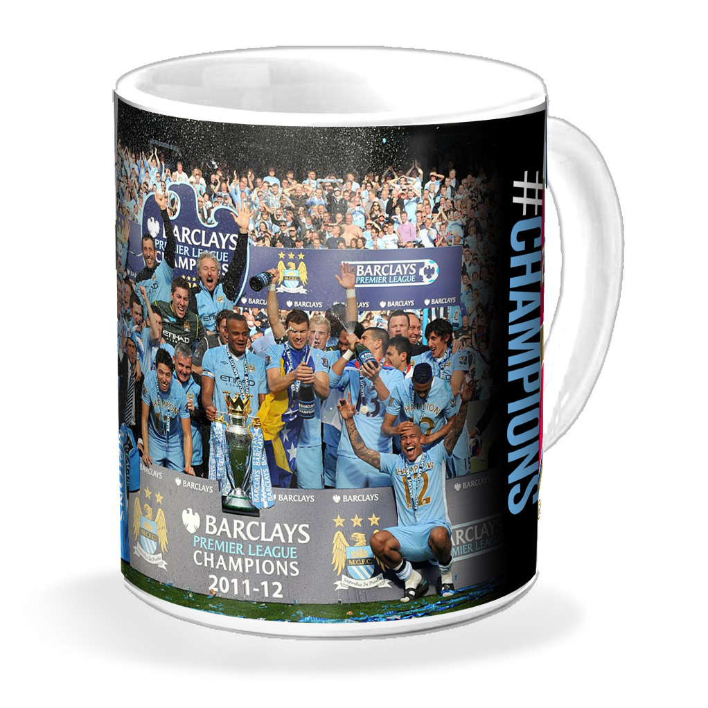 Manchester City #Champions 11/12 Celebration 11oz Mug