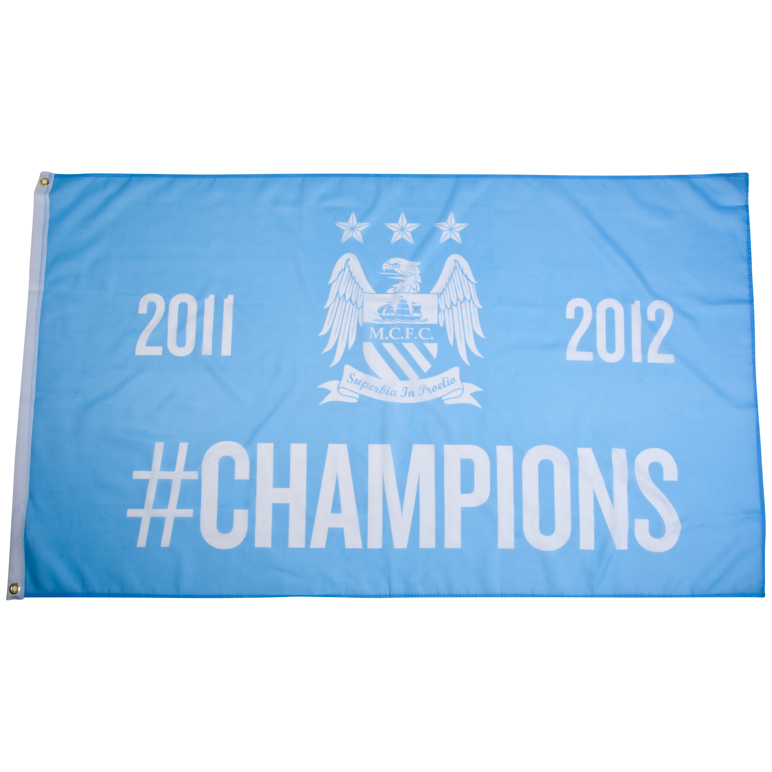 Manchester City #Champions 11/12 5x3 Flag
