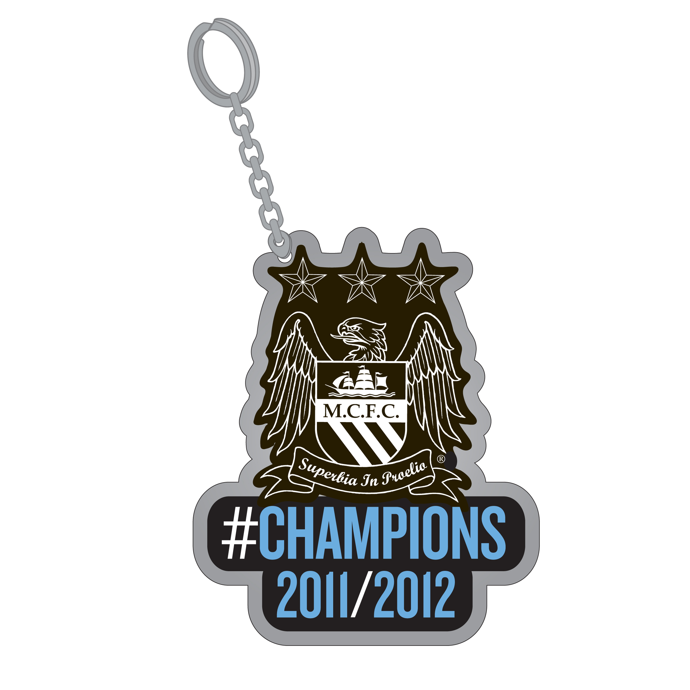 Manchester City #Champions 11/12 Keyring