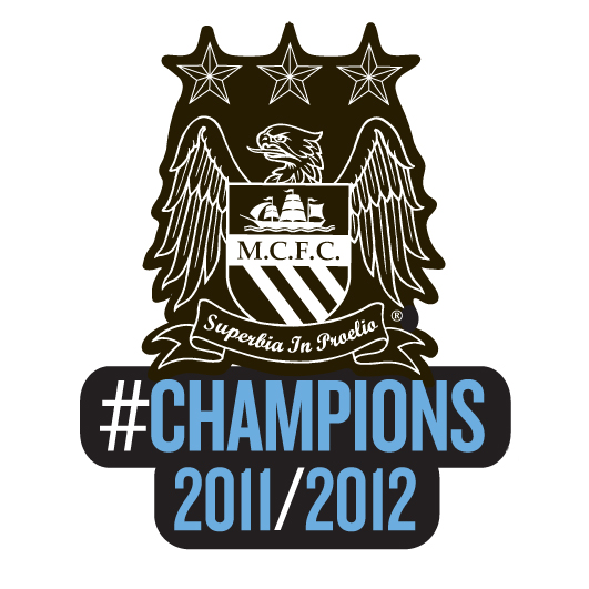 Manchester City #Champions 11/12 Badge