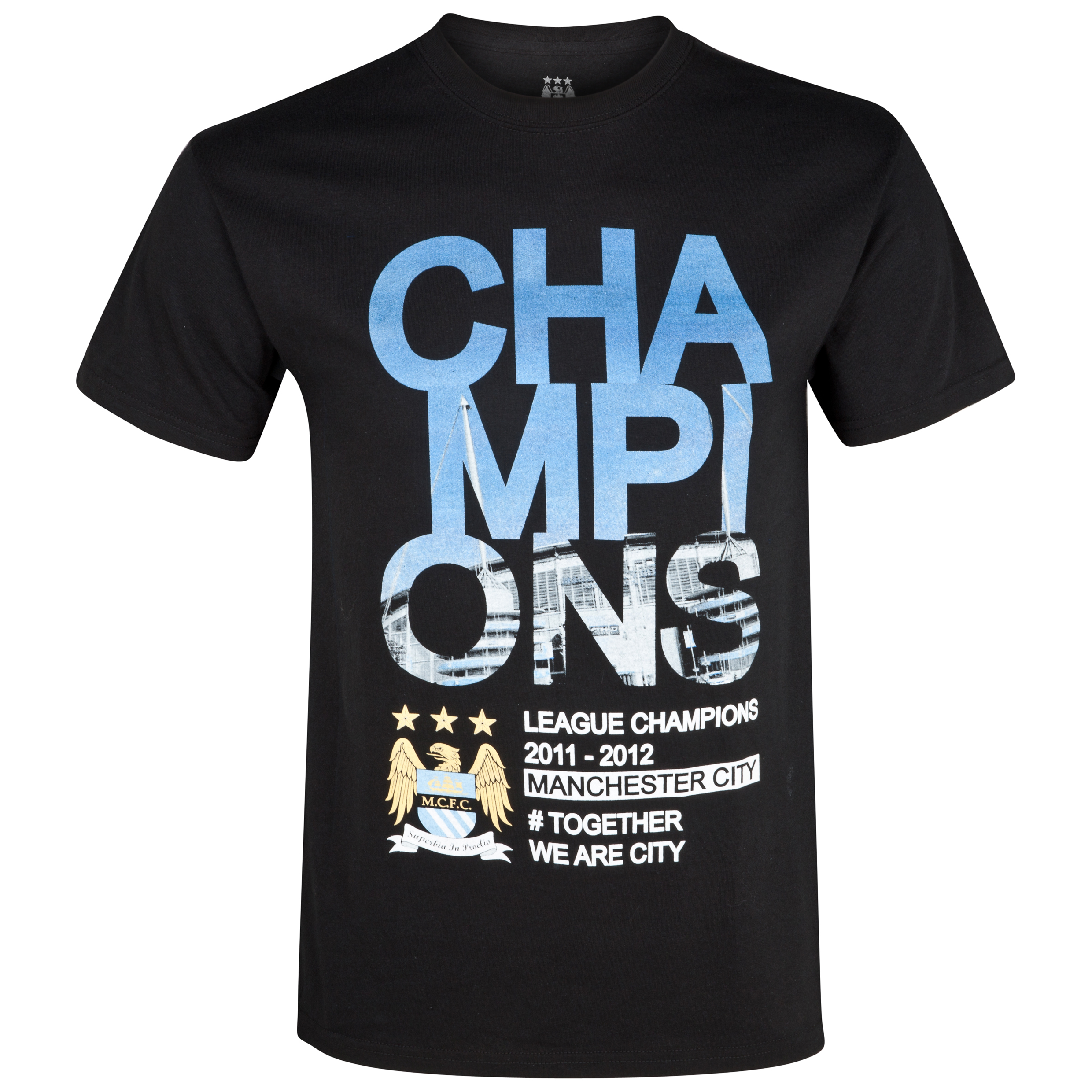 Manchester City Winners Stadium T-Shirt - Black